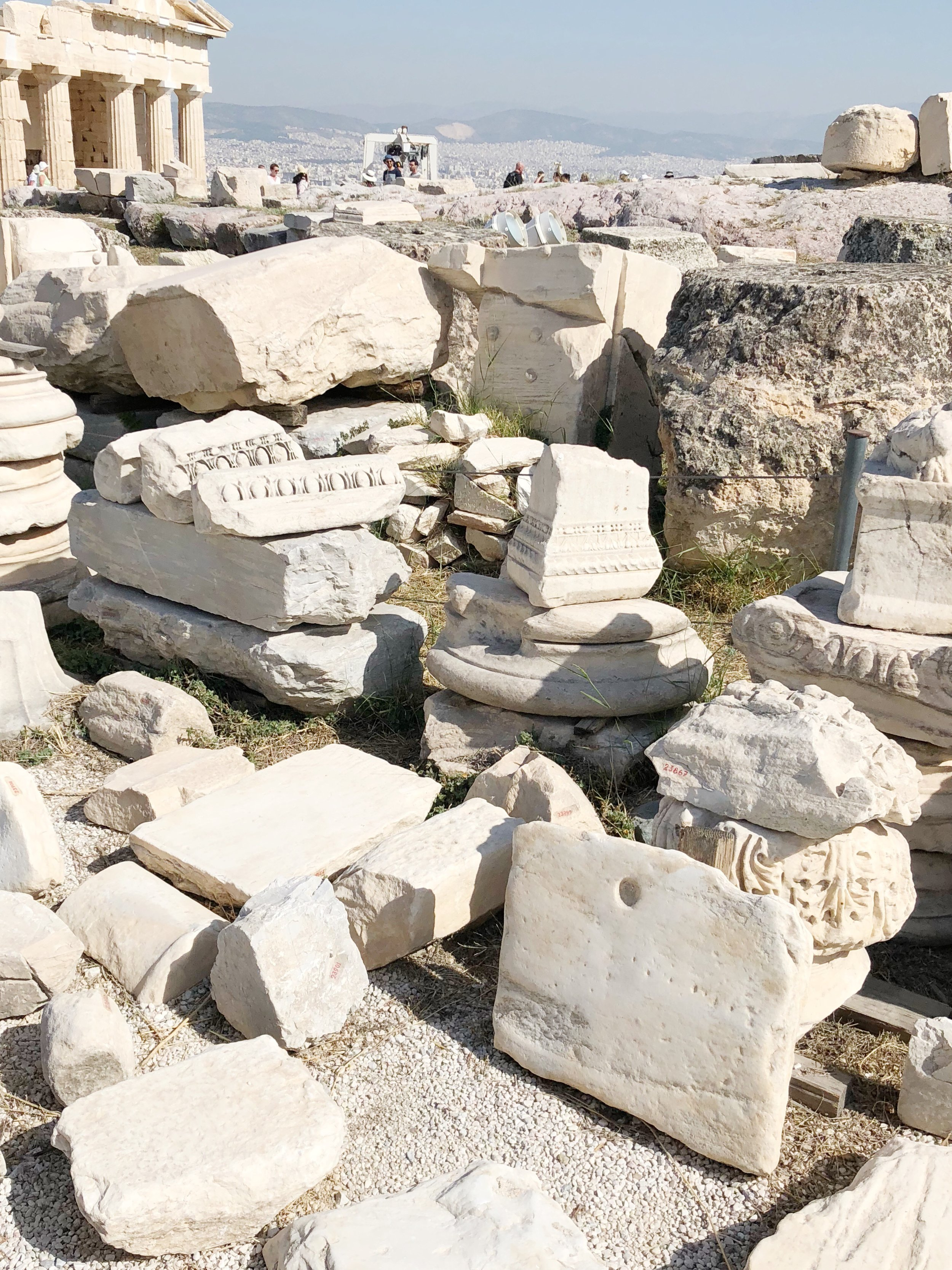 The ruins you'll see scattered across the Acropolis site.