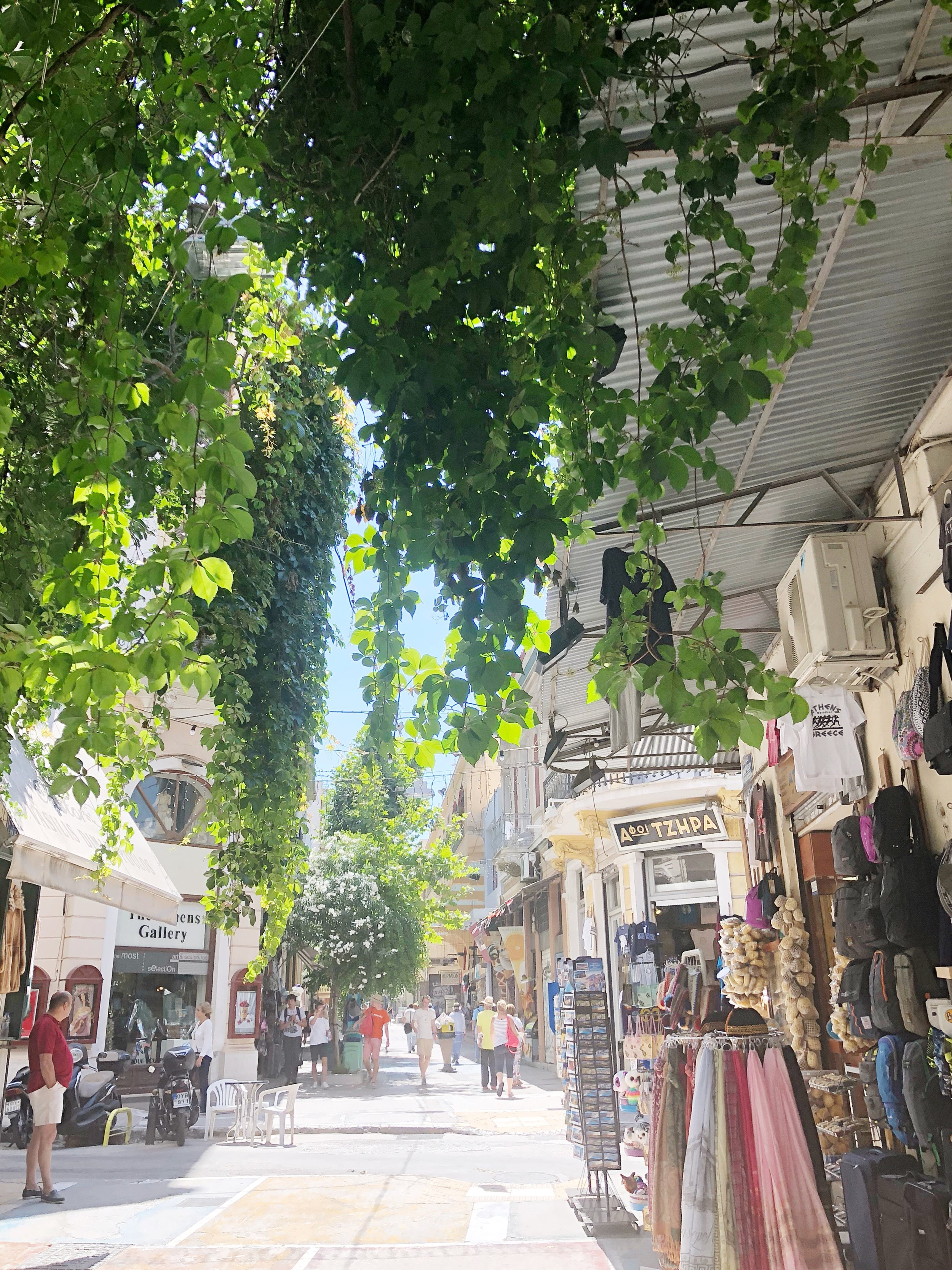 Shopping in Athens, Greece.