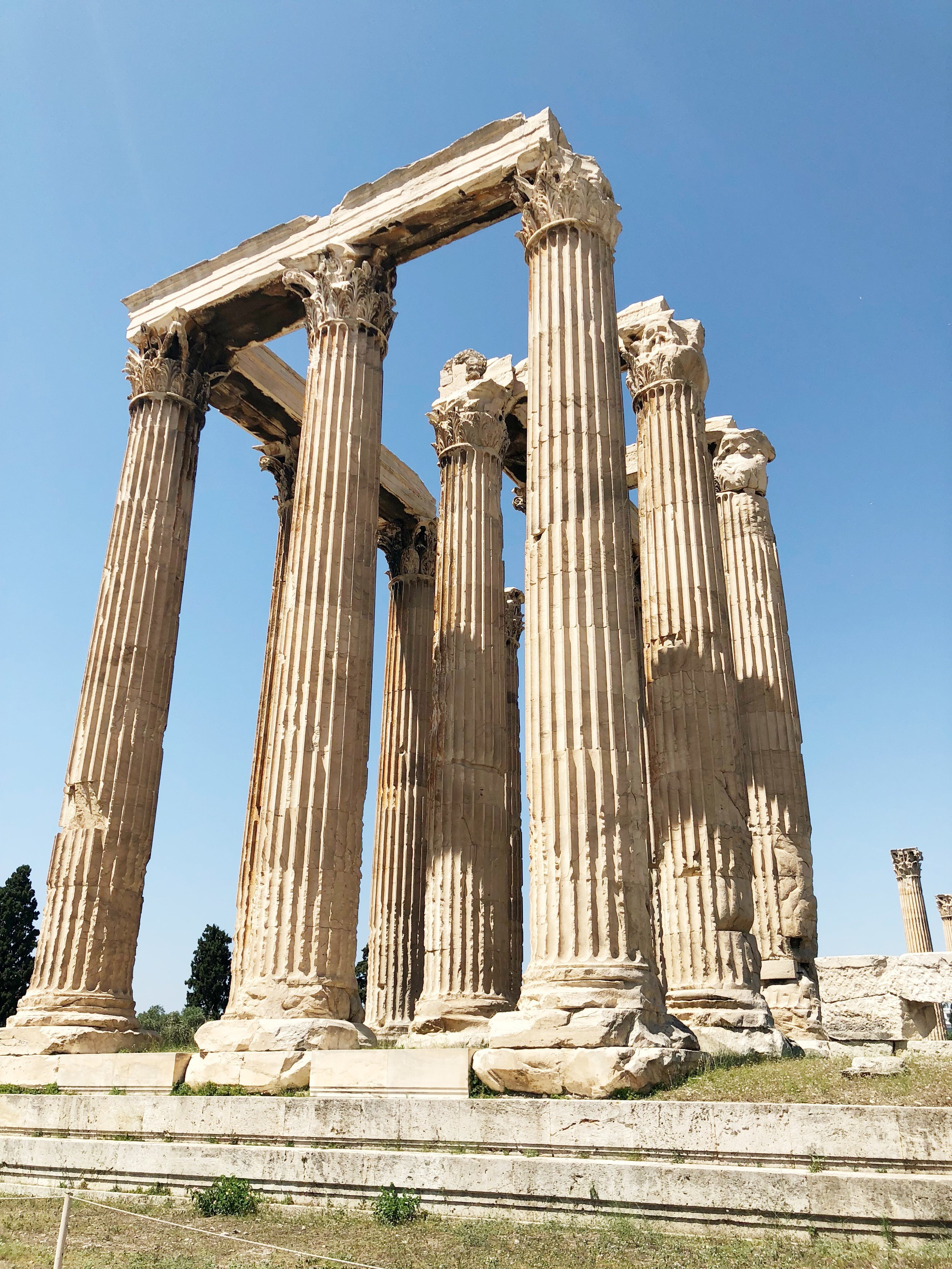 The Temple of Zeus in Athens, Greece.