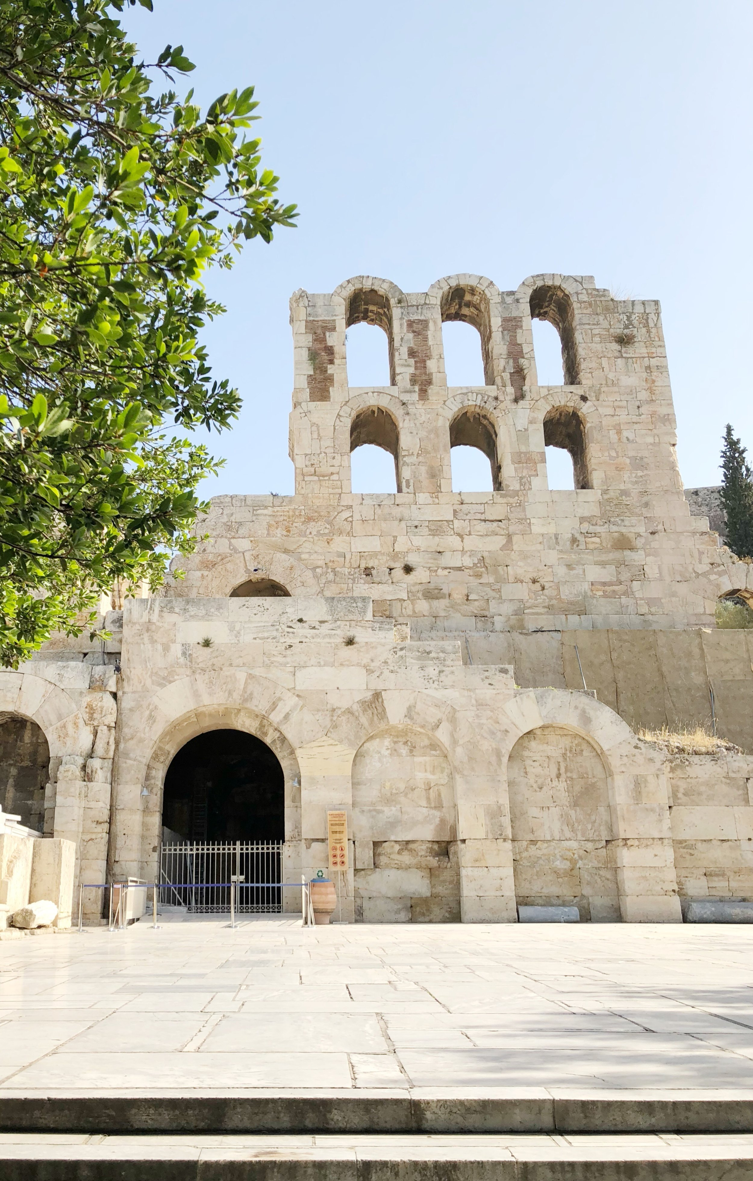 This is what you first see when walking up to the Acropolis - the Herodes Theater.
