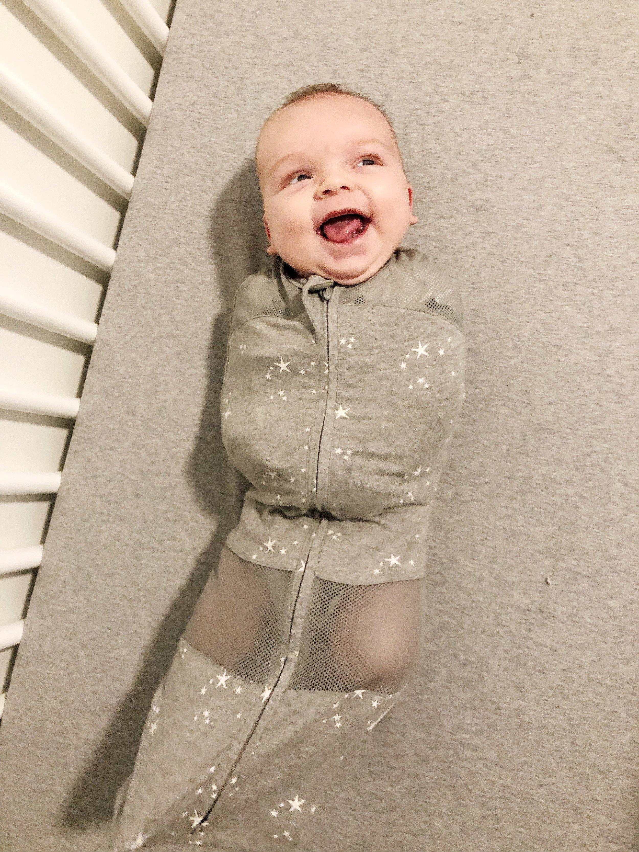 He loves his sleep sack!