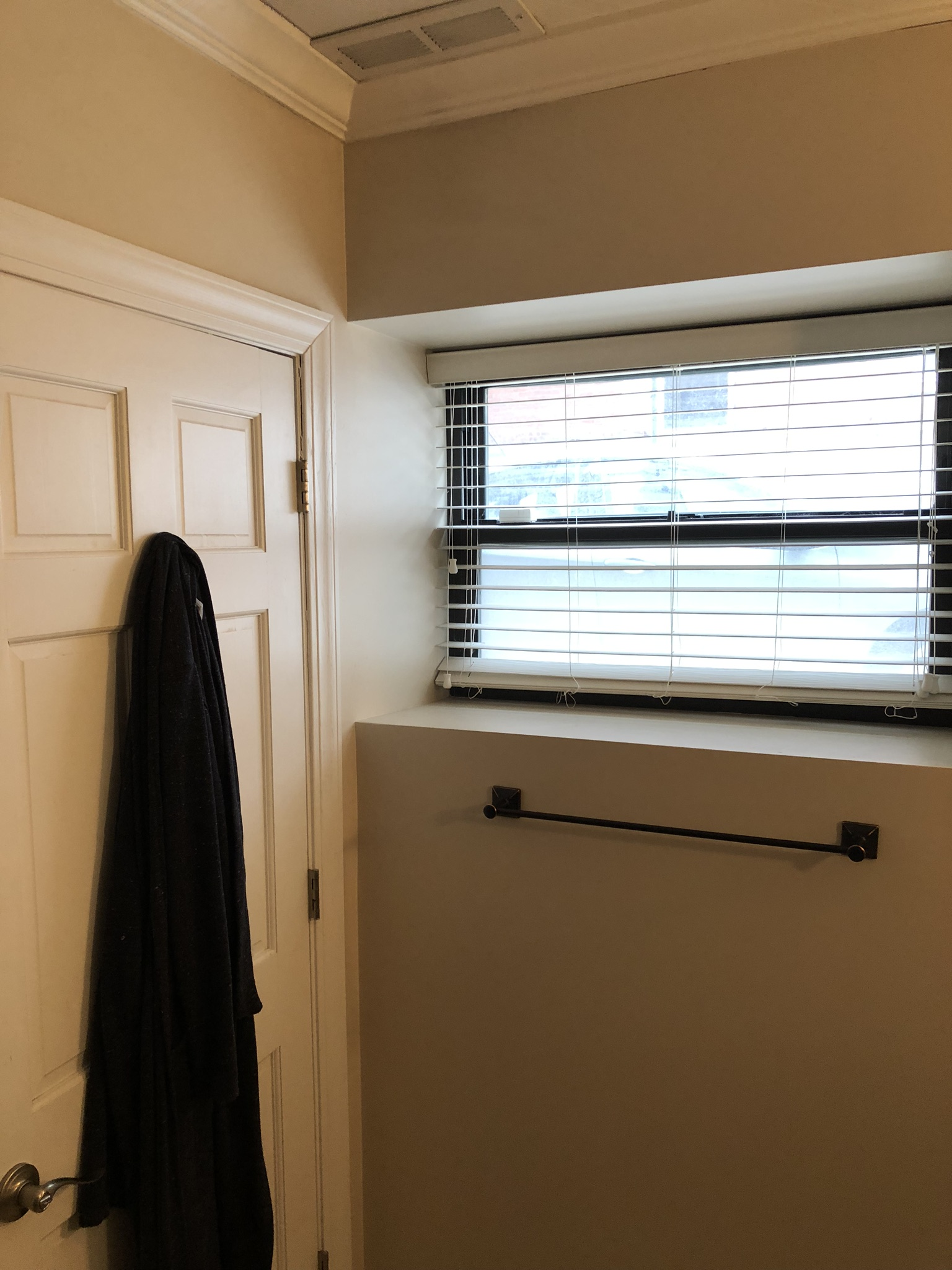 And finally, the window cut-out with blinds that just doesn't work. We have some ideas…