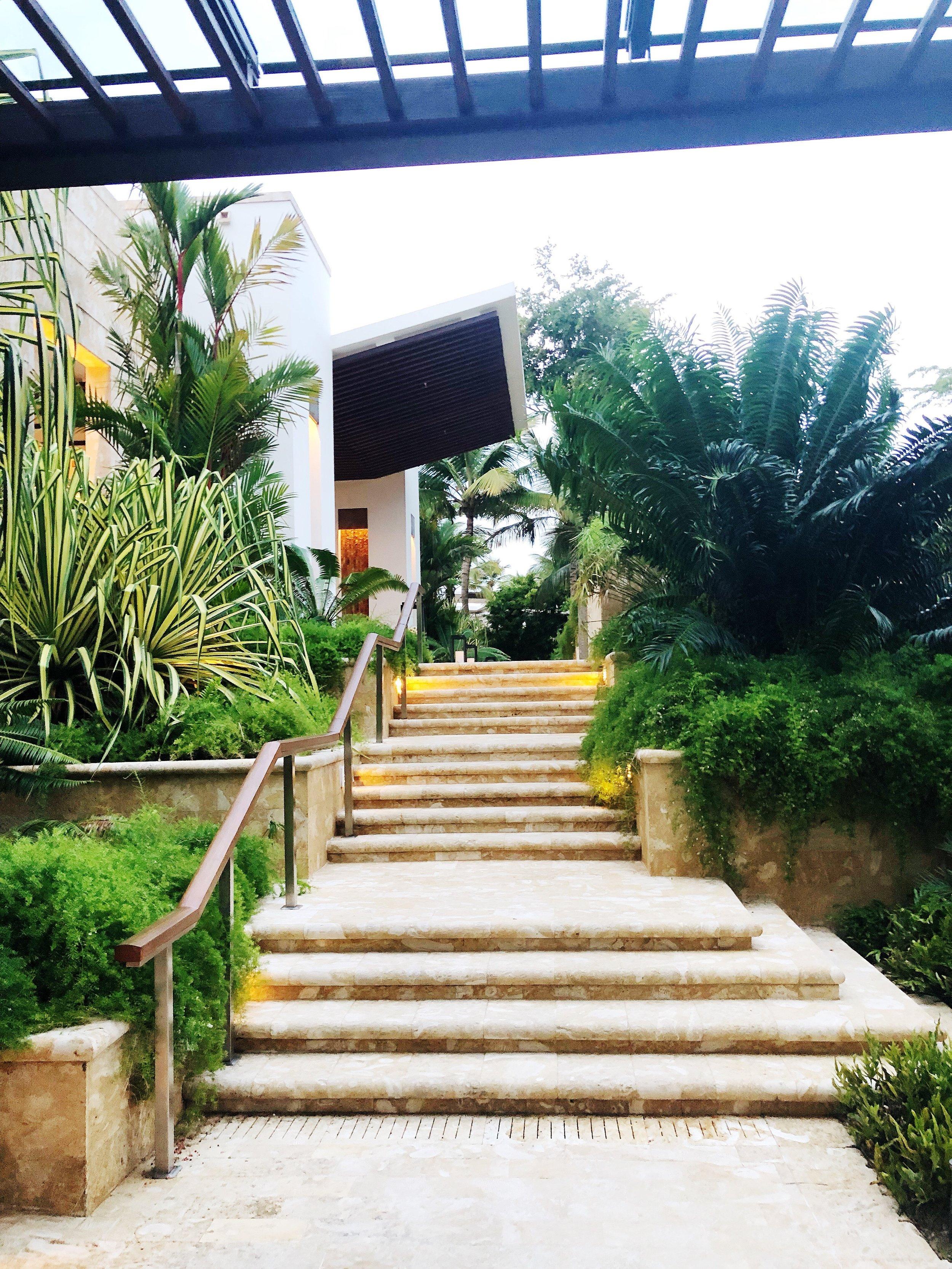 One of the main entry ways at the Dorado Beach Ritz Carlton Reserve.