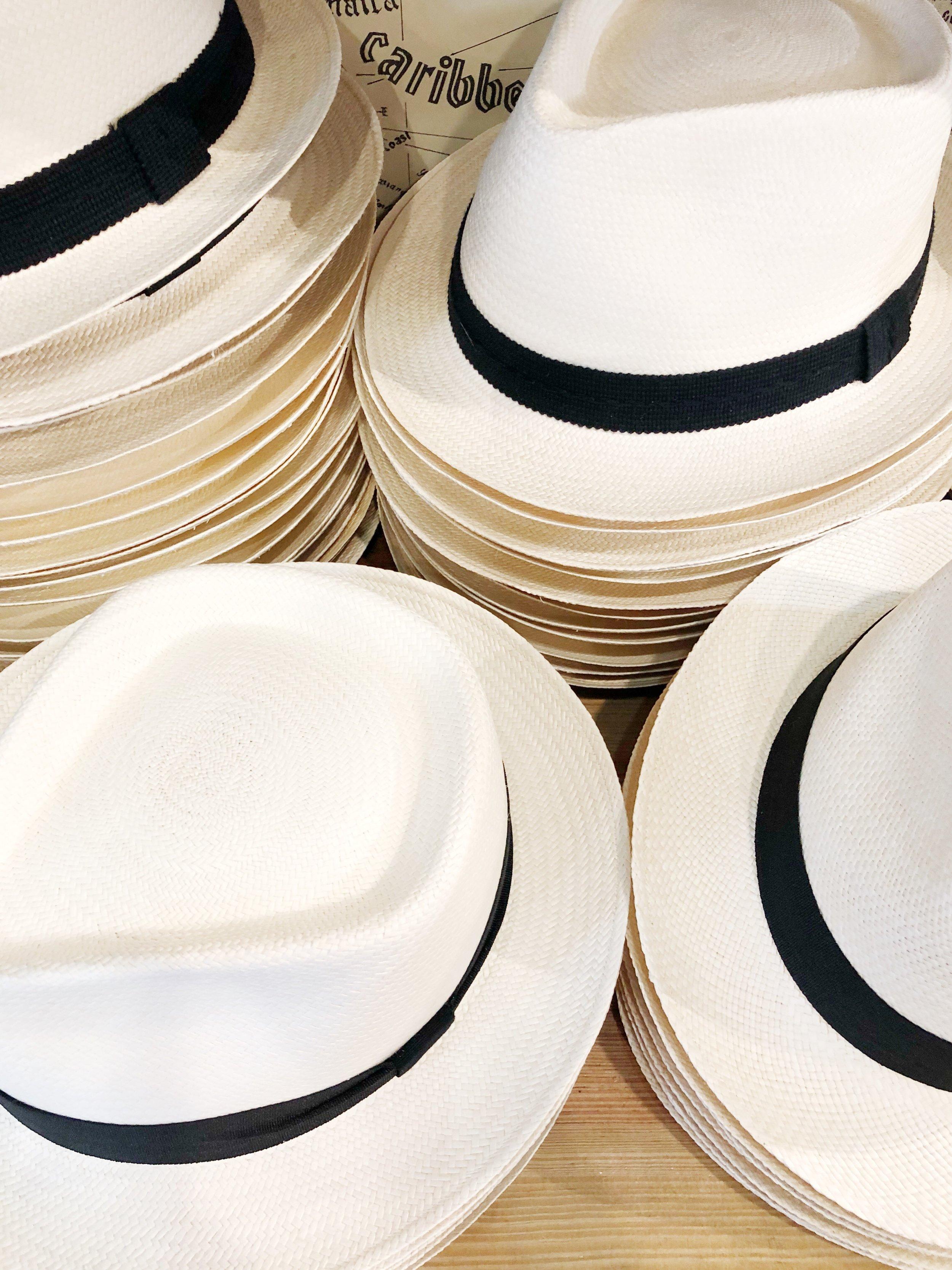 Panama hats in Old San Juan.