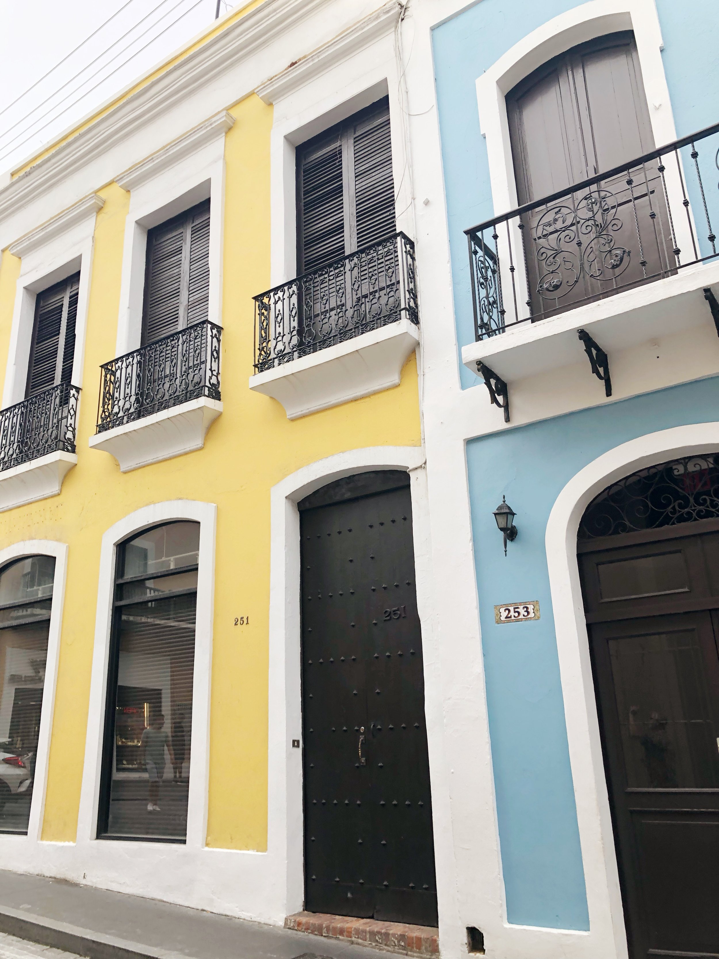 More gorgeous buildings in Old San Juan.