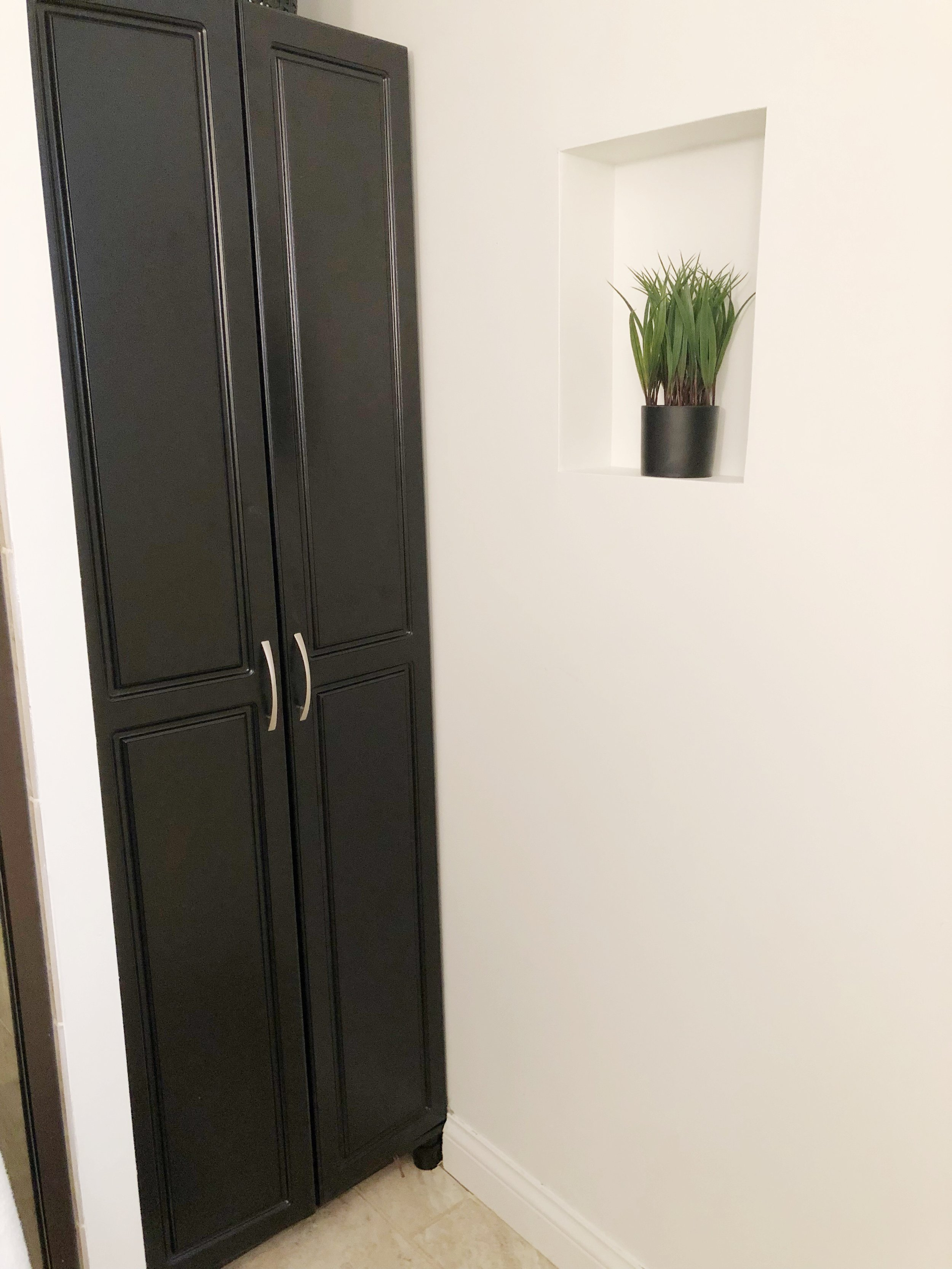 The Scholl cabinet from Birch Lane fit our narrow space perfectly.