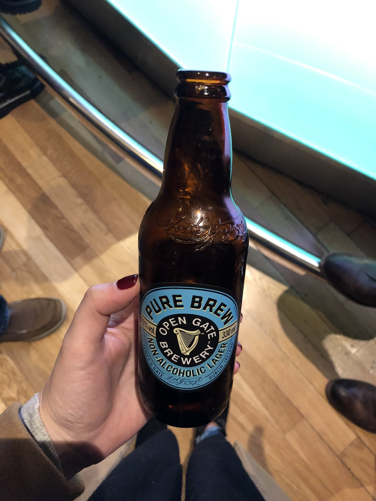 Non-alcoholic beer at the Guinness Storehouse in Dublin.