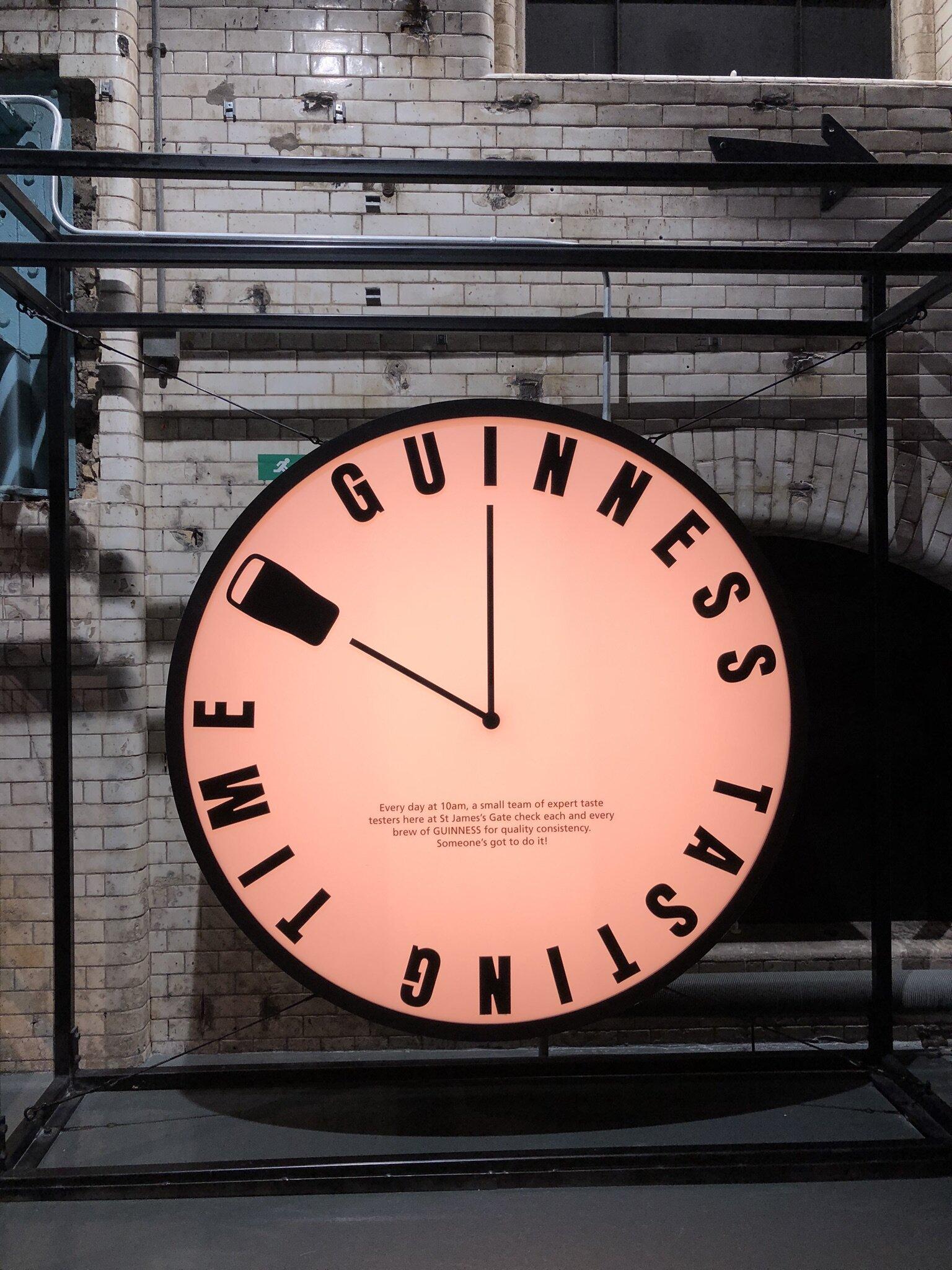 Touring the Guinness Storehouse in Dublin.