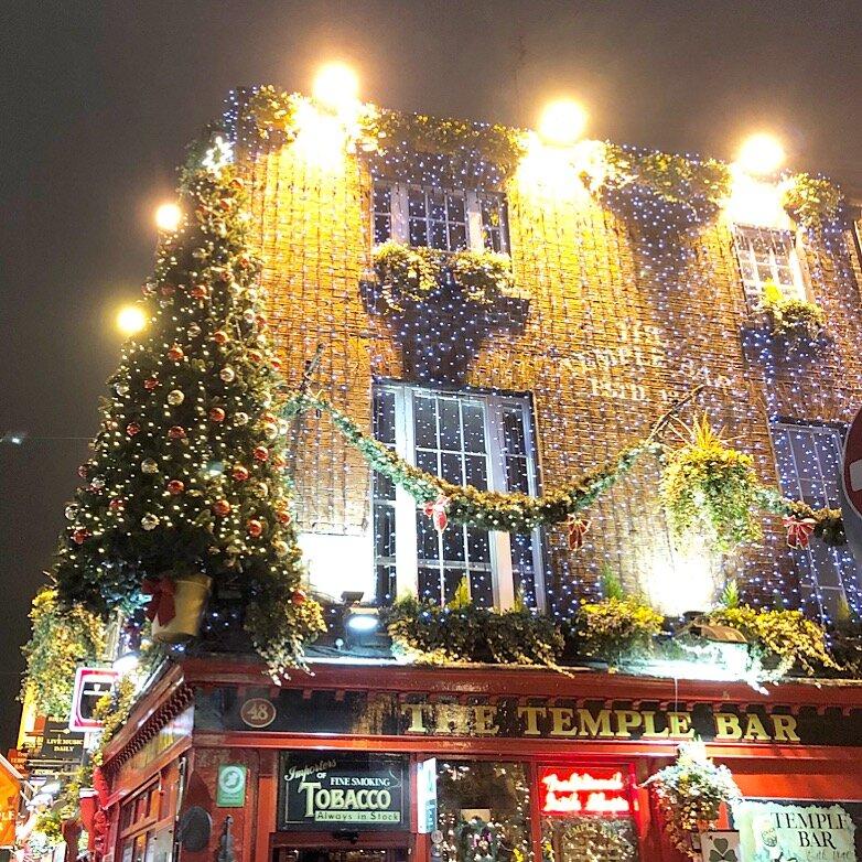 The famous Temple Bar in Dublin!