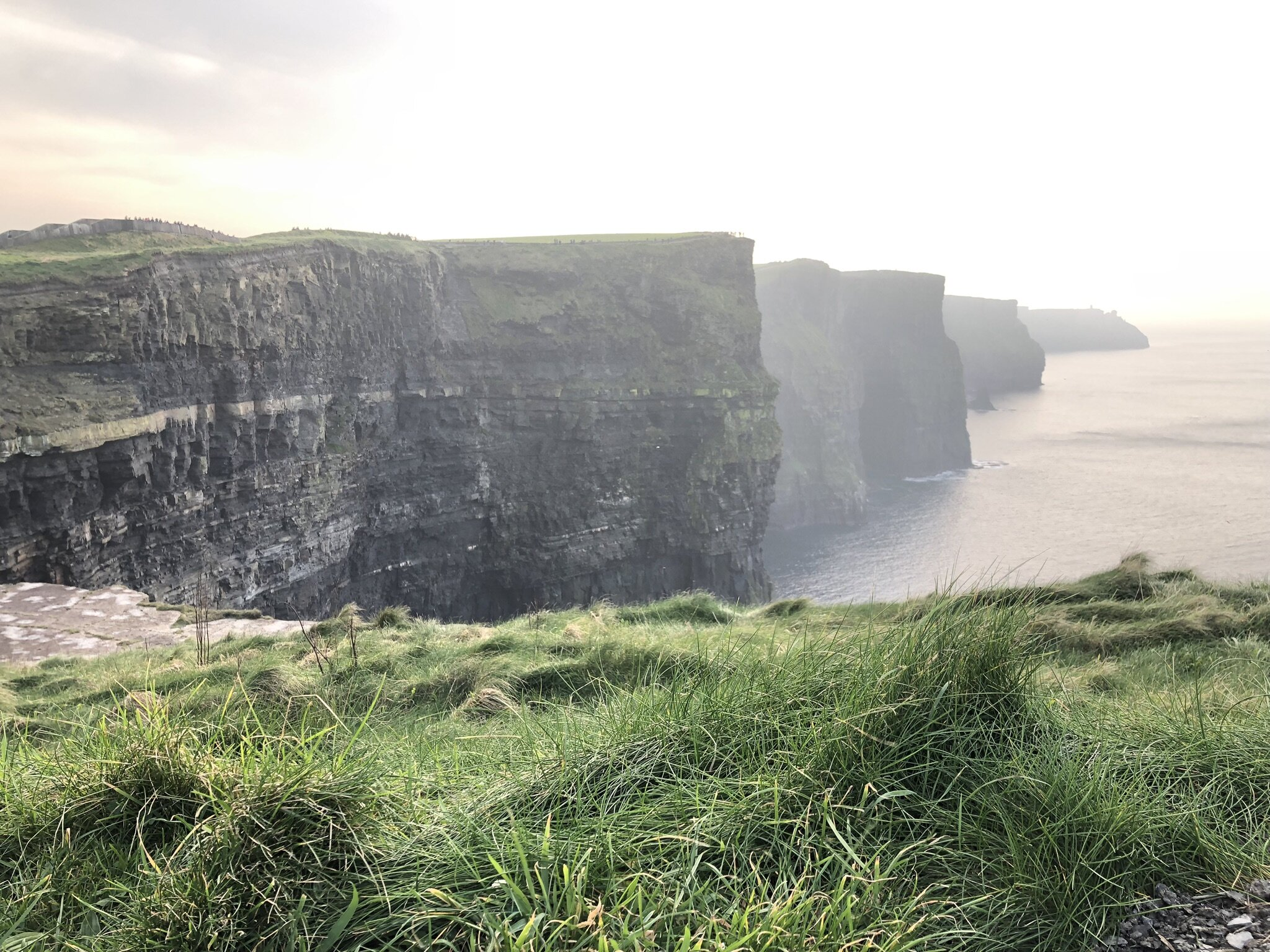 The gorgeous view at the Cliffs of Moher.