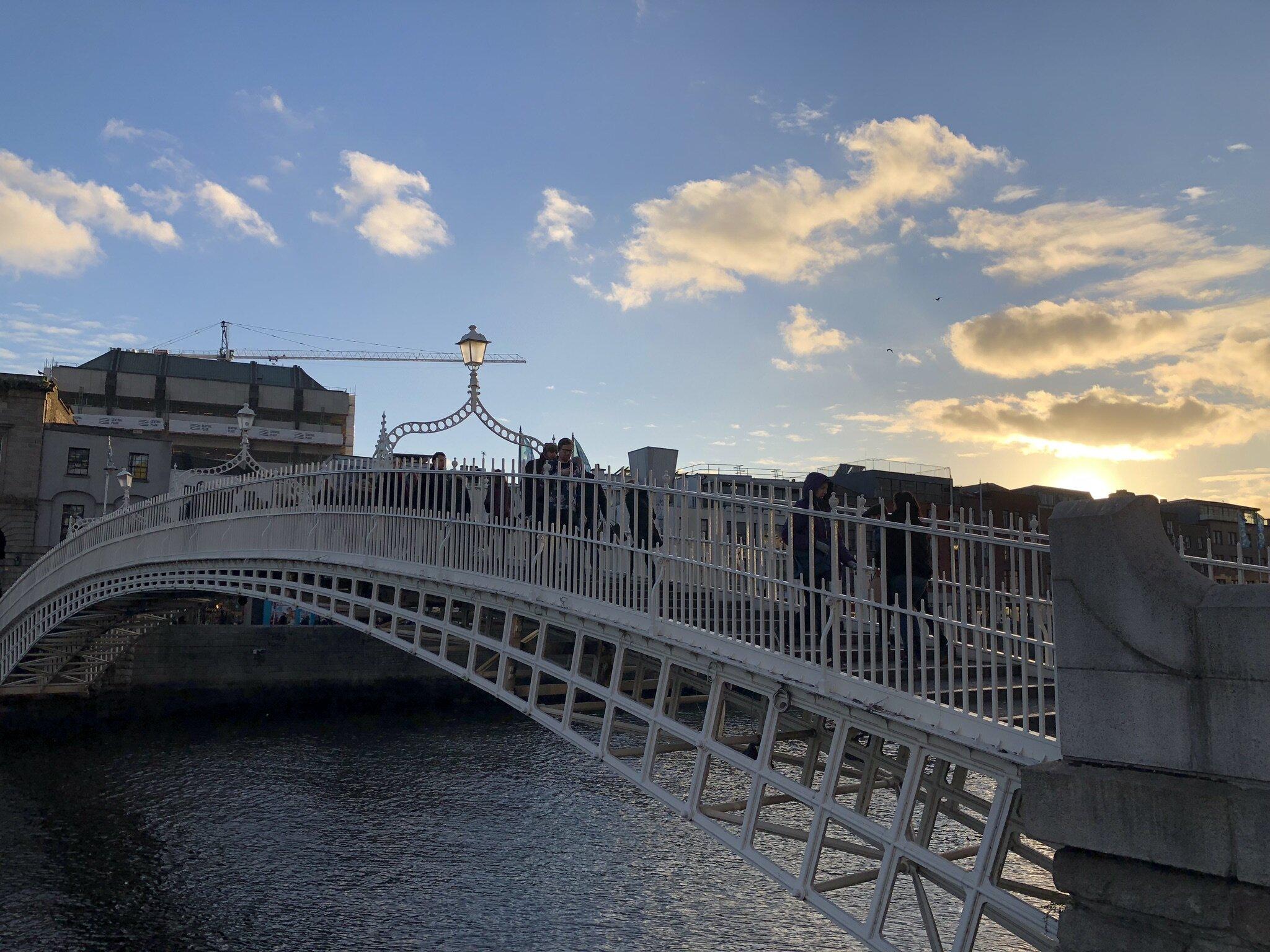Ha' Penny Bridge in Dublin.