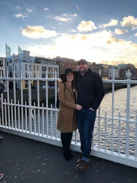 Ha' Penny pedestrian bridge in Dublin.