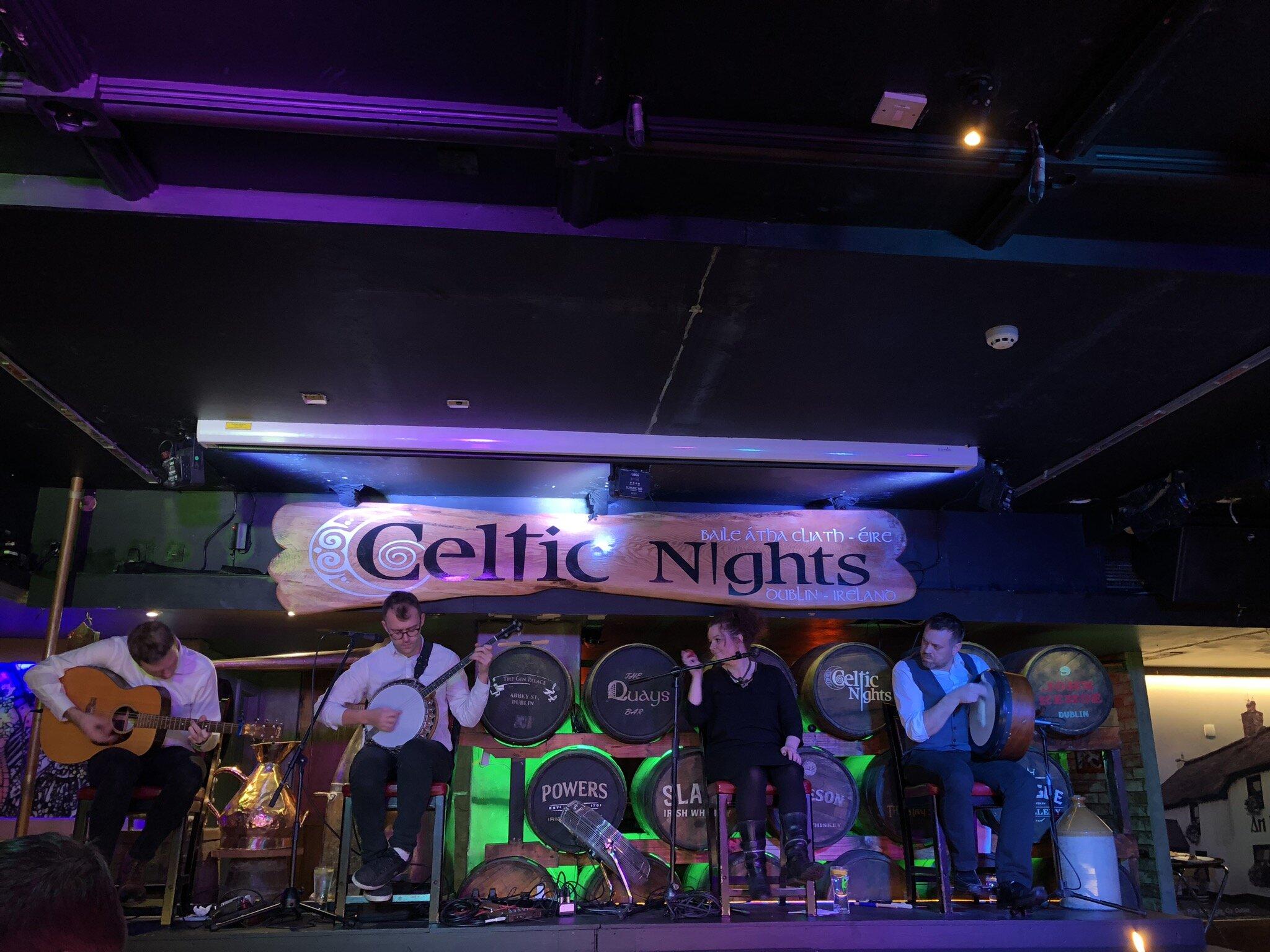 Celtic Nights live music at the Arlington Hotel restaurant in Dublin.