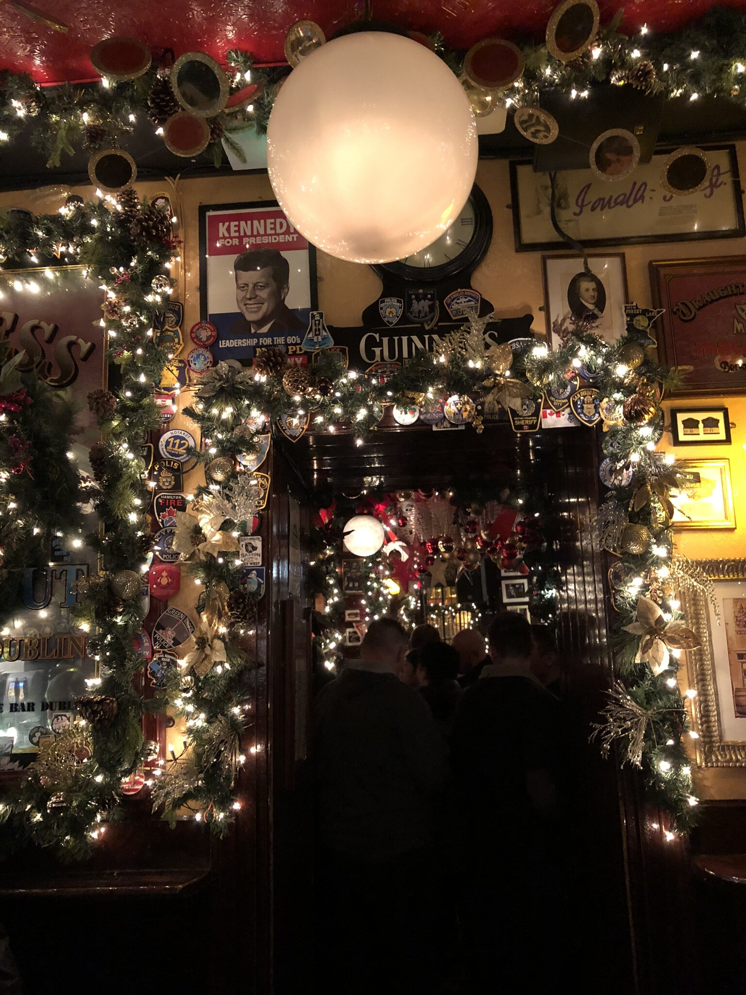 Getting in the holiday spirit in Dublin, Ireland (Temple Bar).