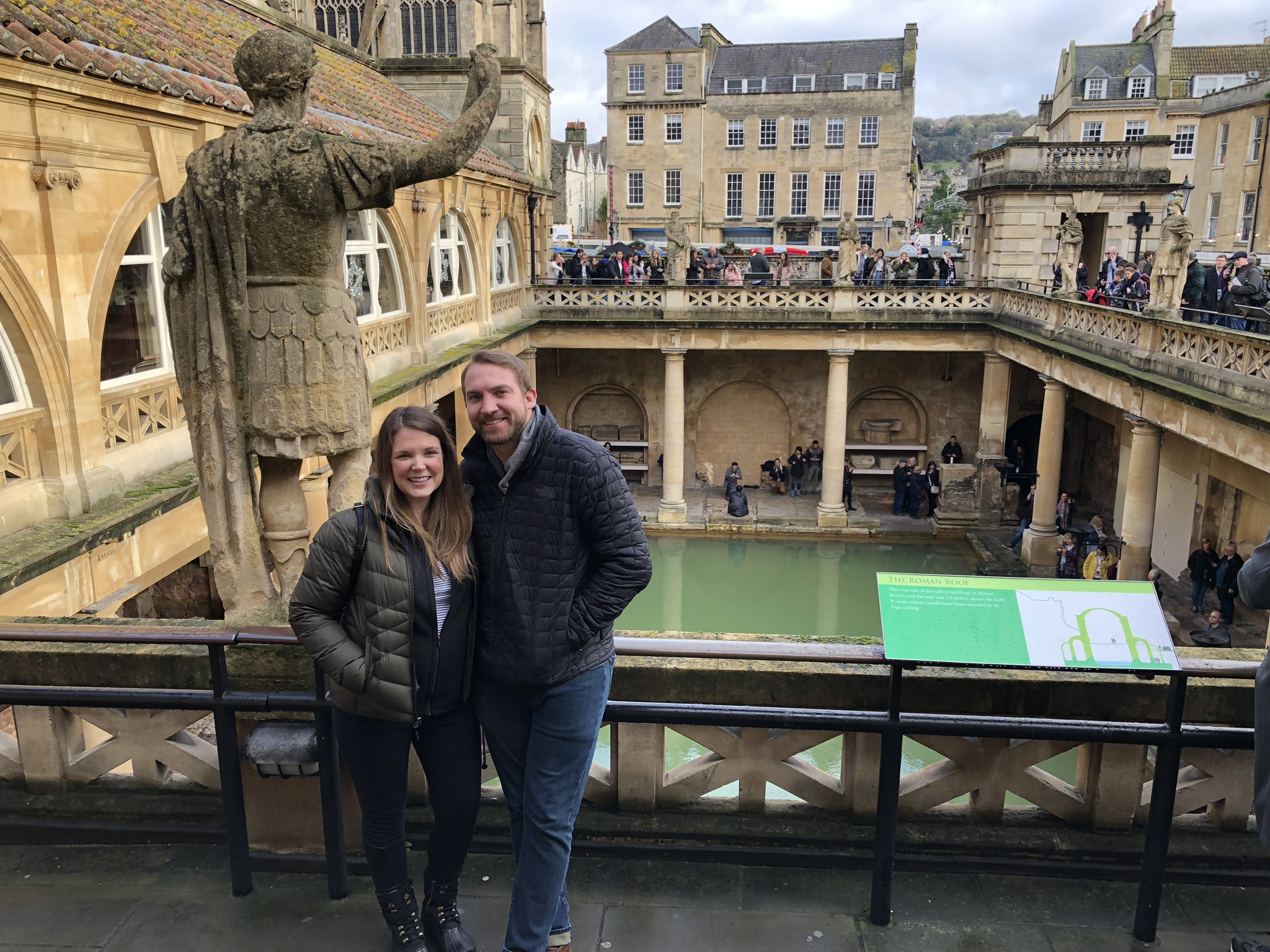 Roman Baths in Bath, England on our way to Stonehenge.
