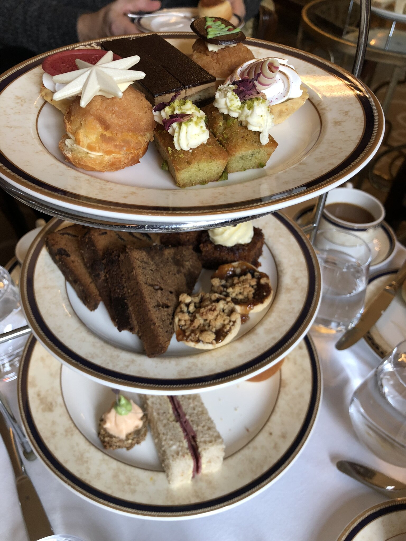 Afternoon Tea at the Hayfield Manor hotel in Cork, Ireland.