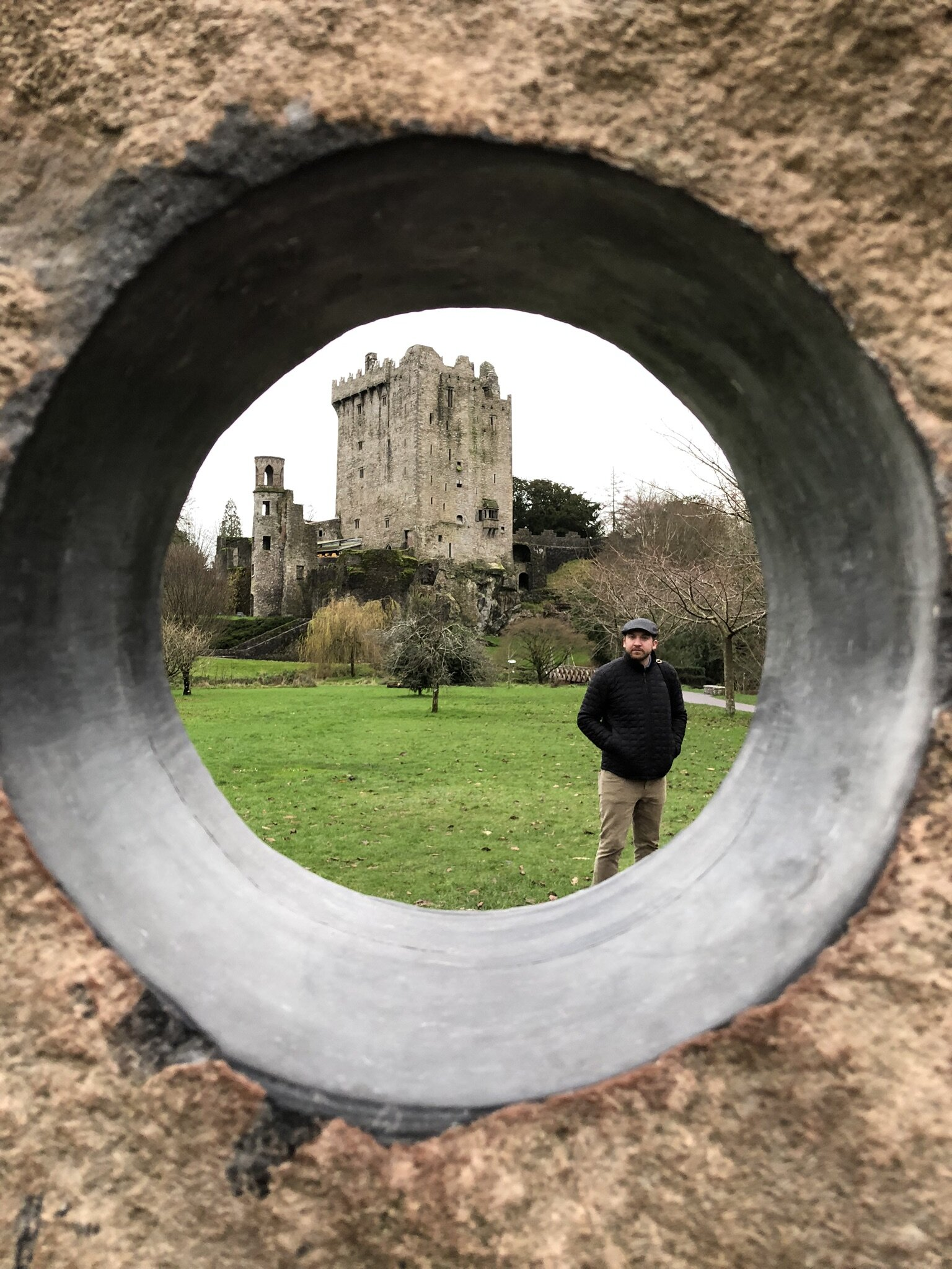 Visiting the Blarney Castle in Cork, Ireland.