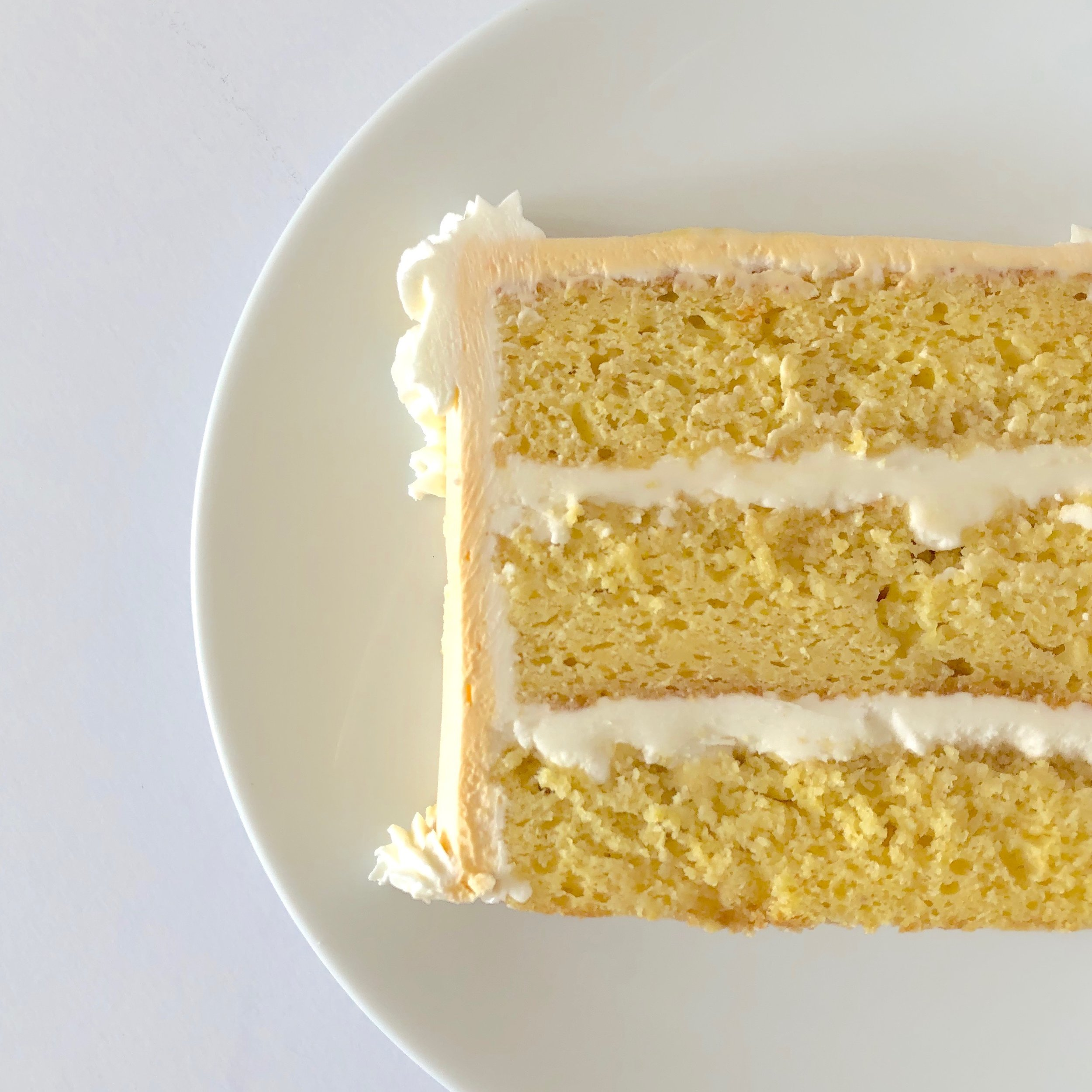 Peach Tea Cake & Honey Buttercream