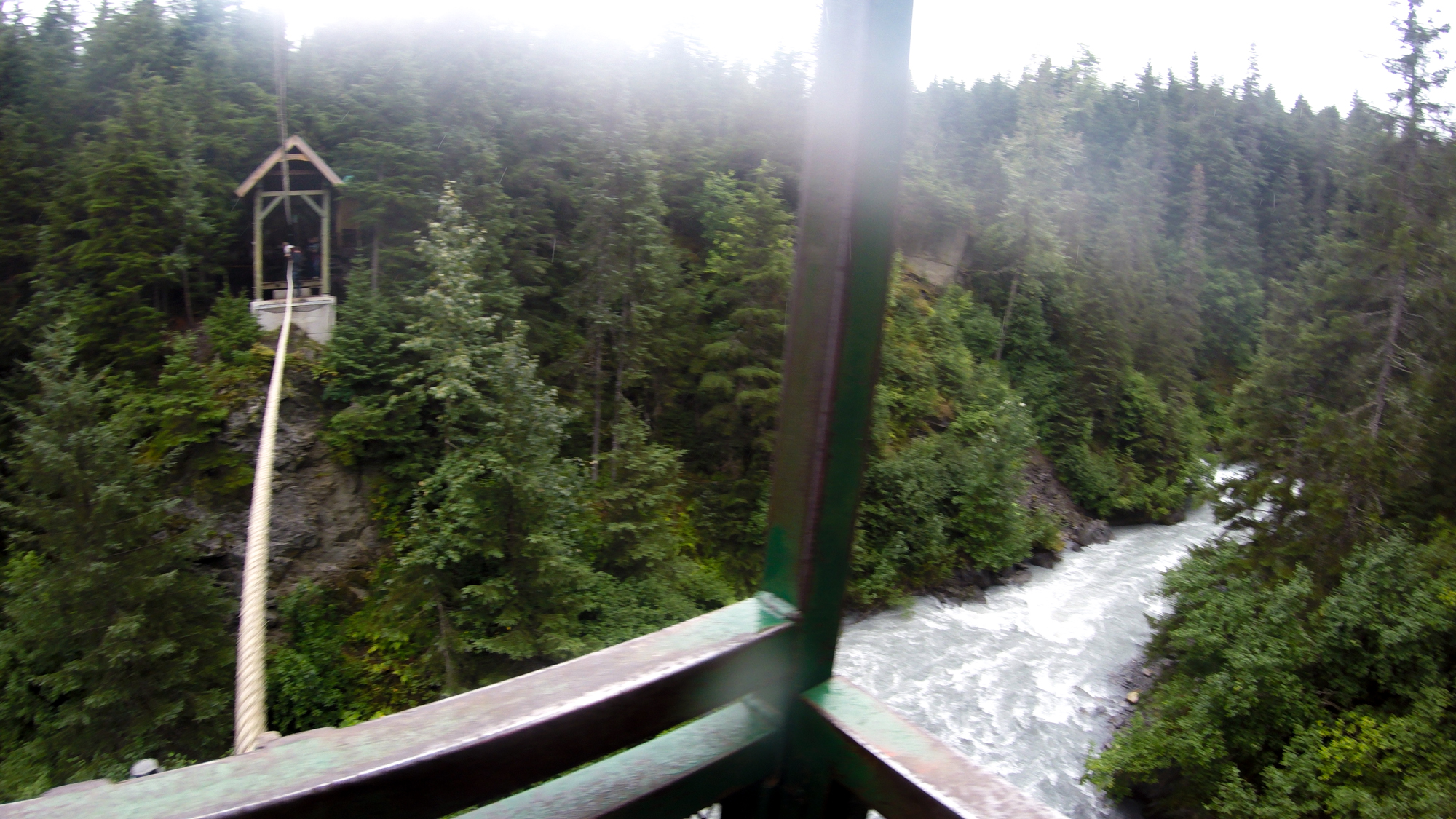 Hand tram over Glacier Creek