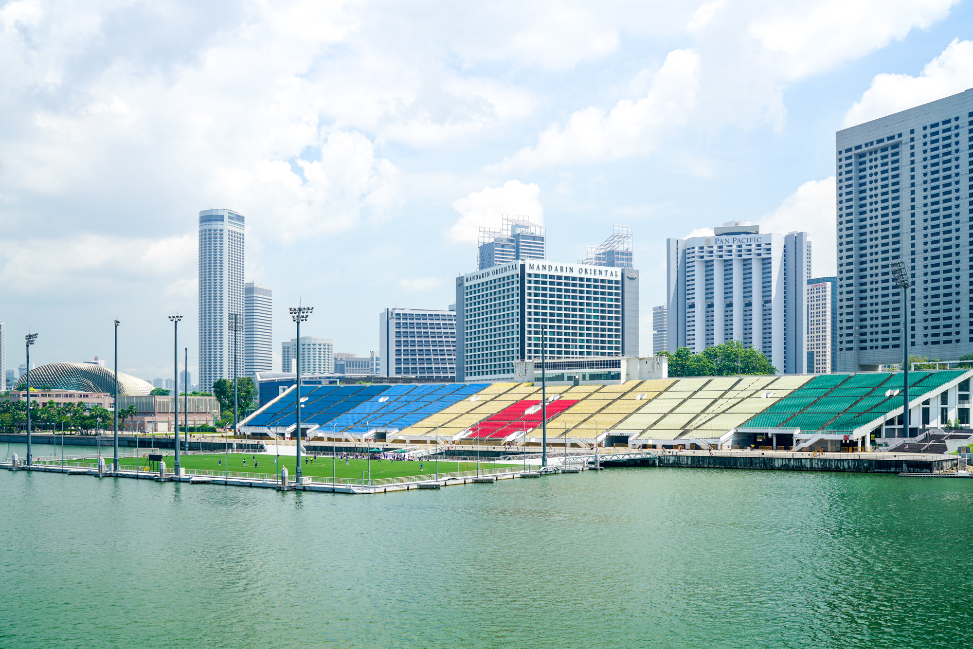 Floating soccer field in Singapore