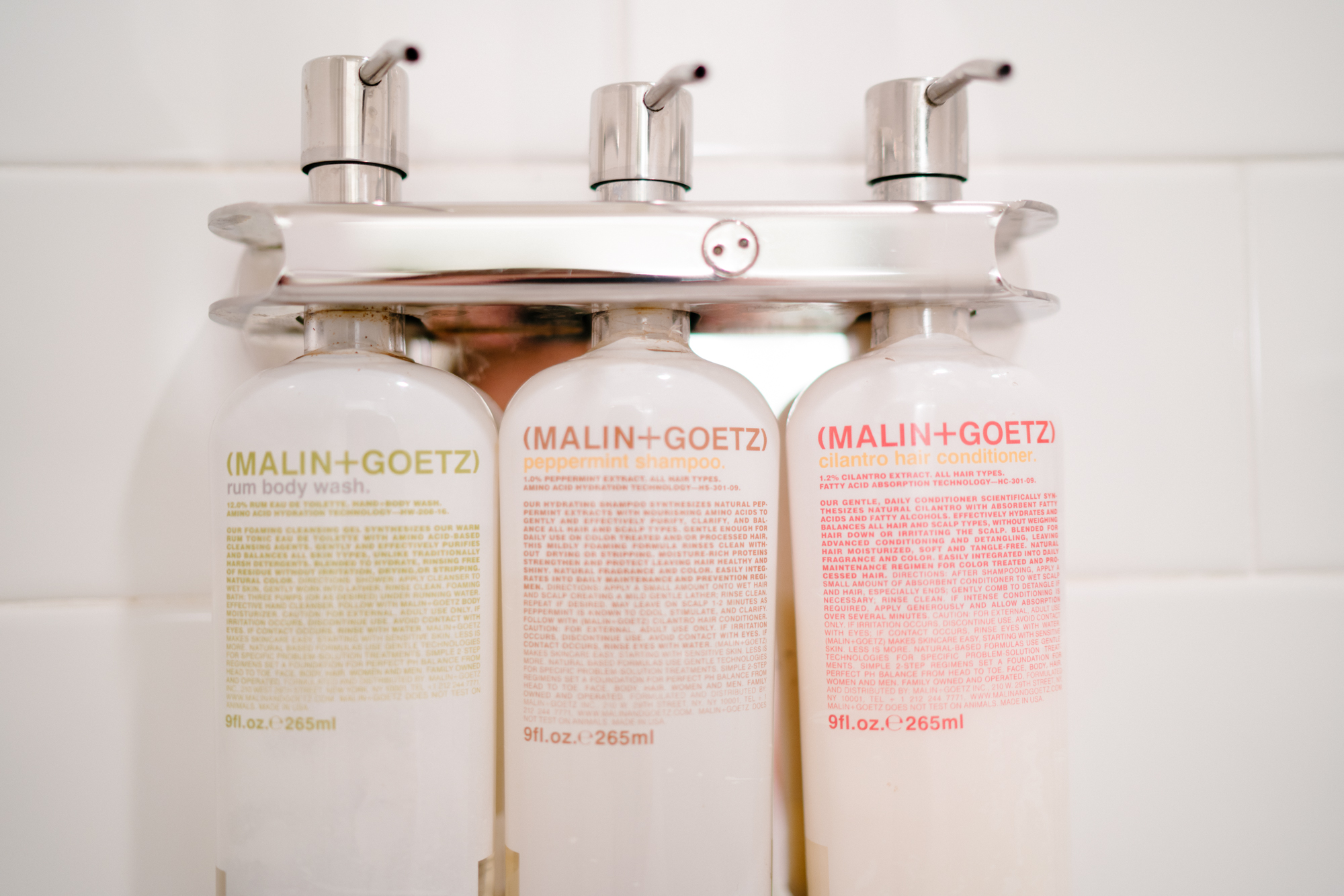 Malin + Goetz products at Zero George