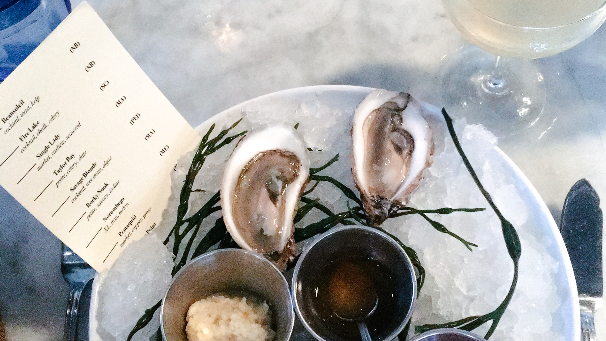 Oysters from The Ordinary in Charleston