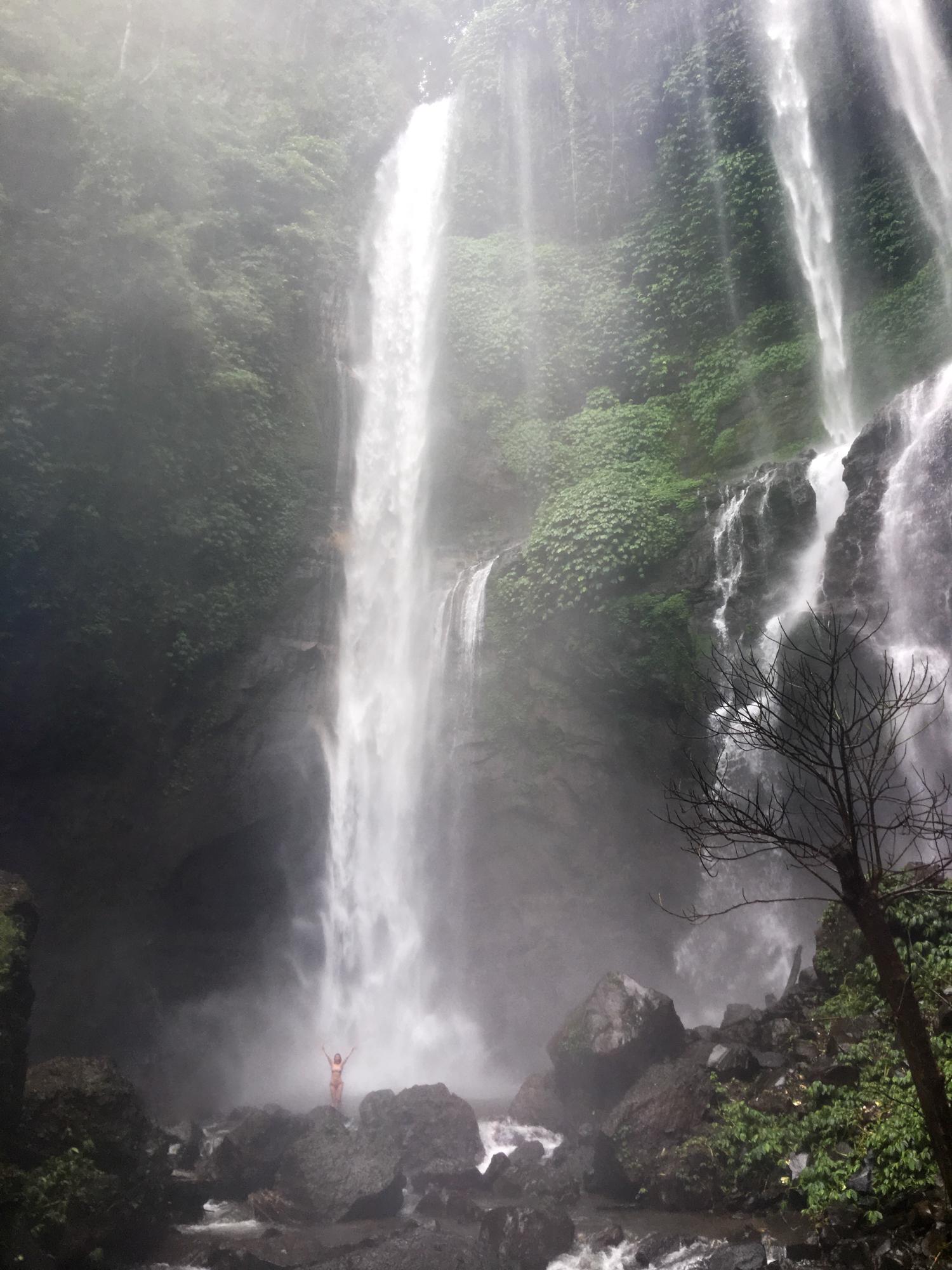 Swimming in Bali's prettiest waterfalls | Never Settle Travel