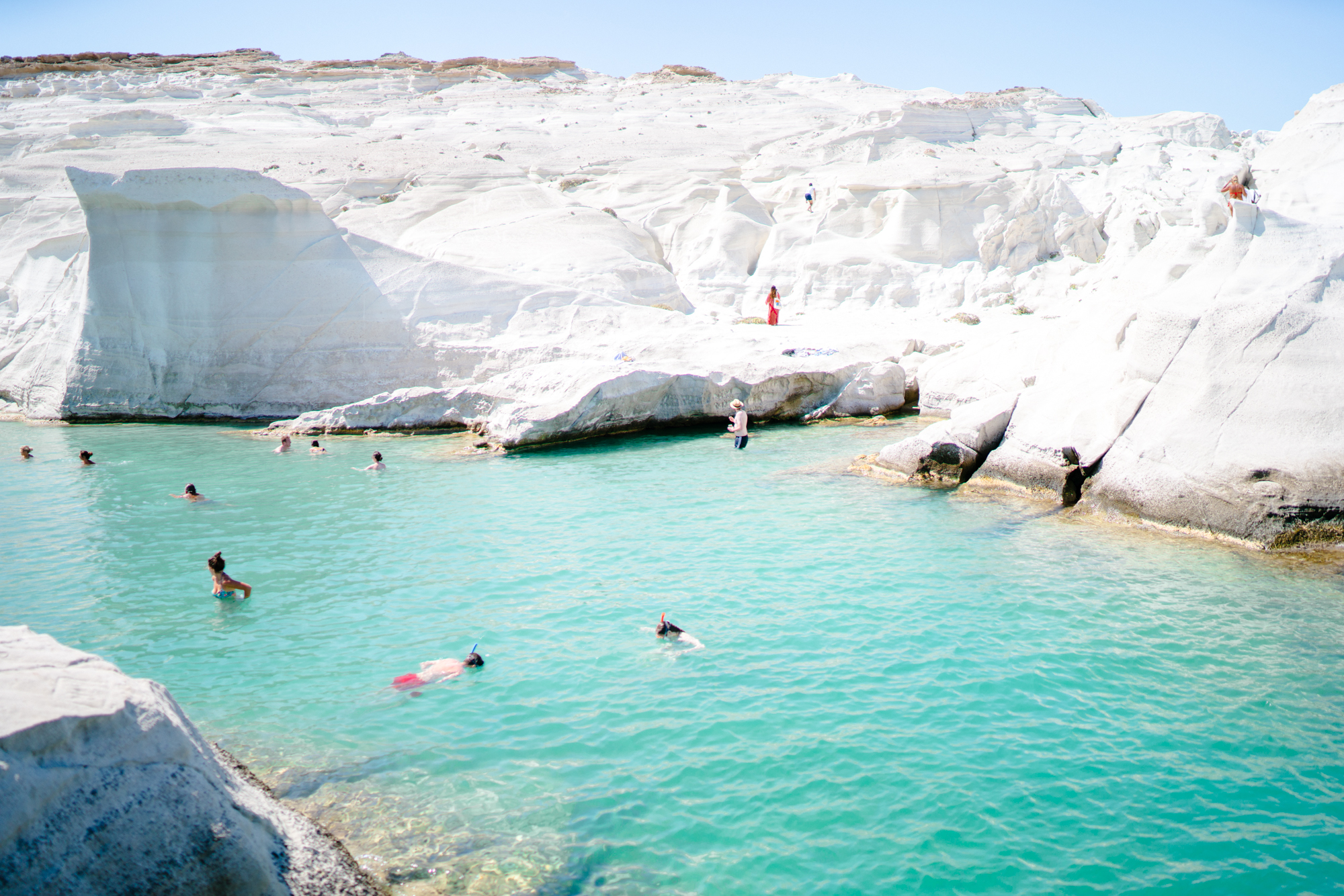 clearest waters for swimming in Greece