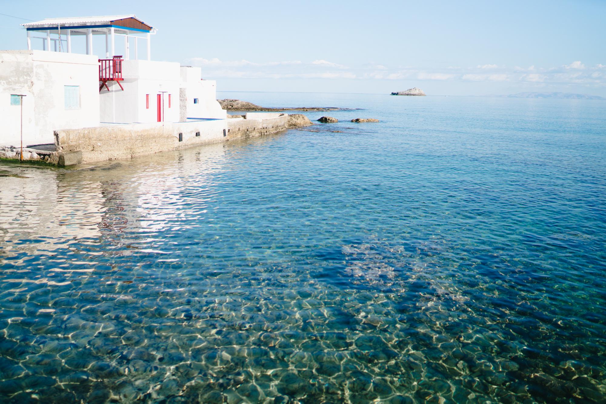 Clearest waters in Greece