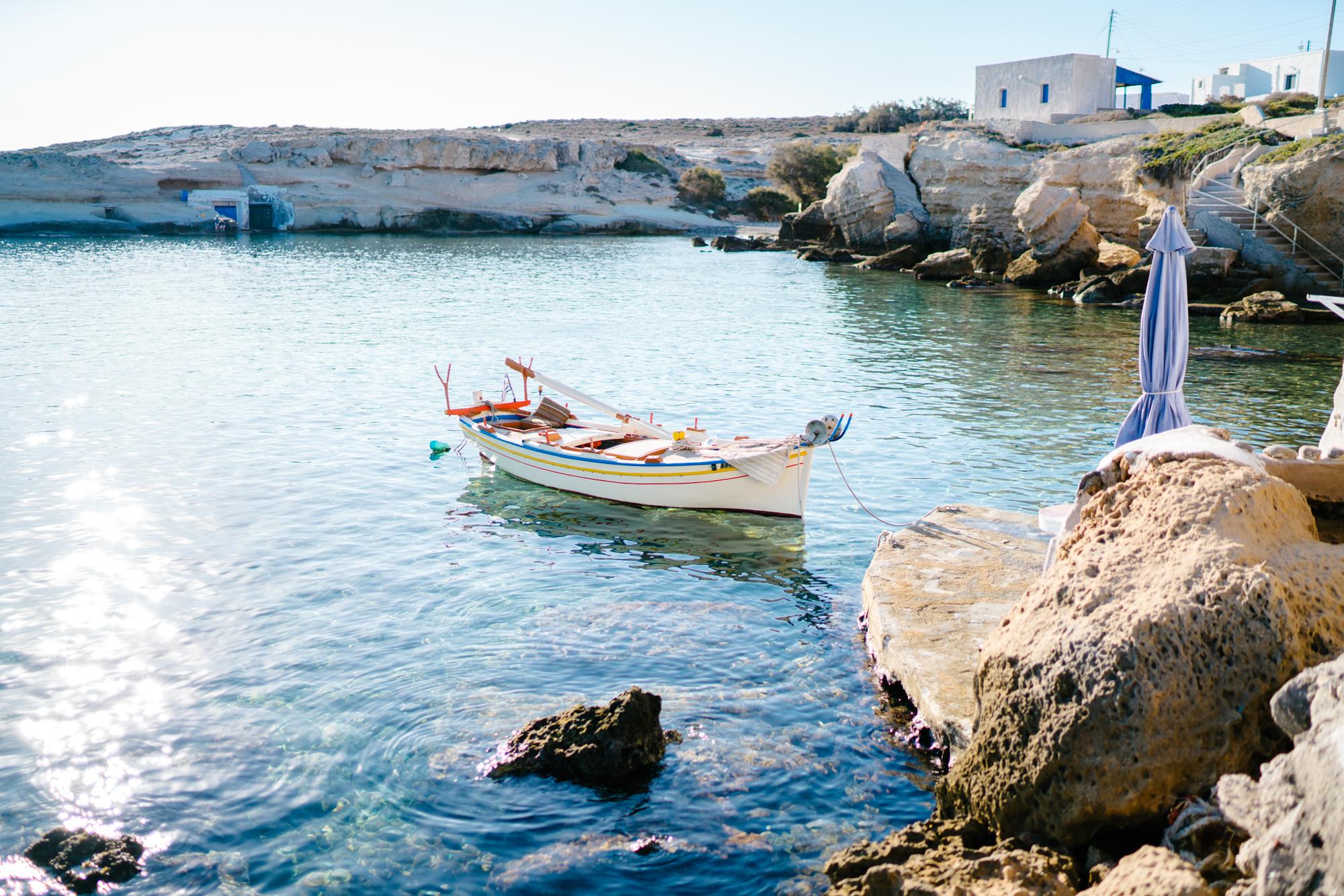 Greece fishermen boat