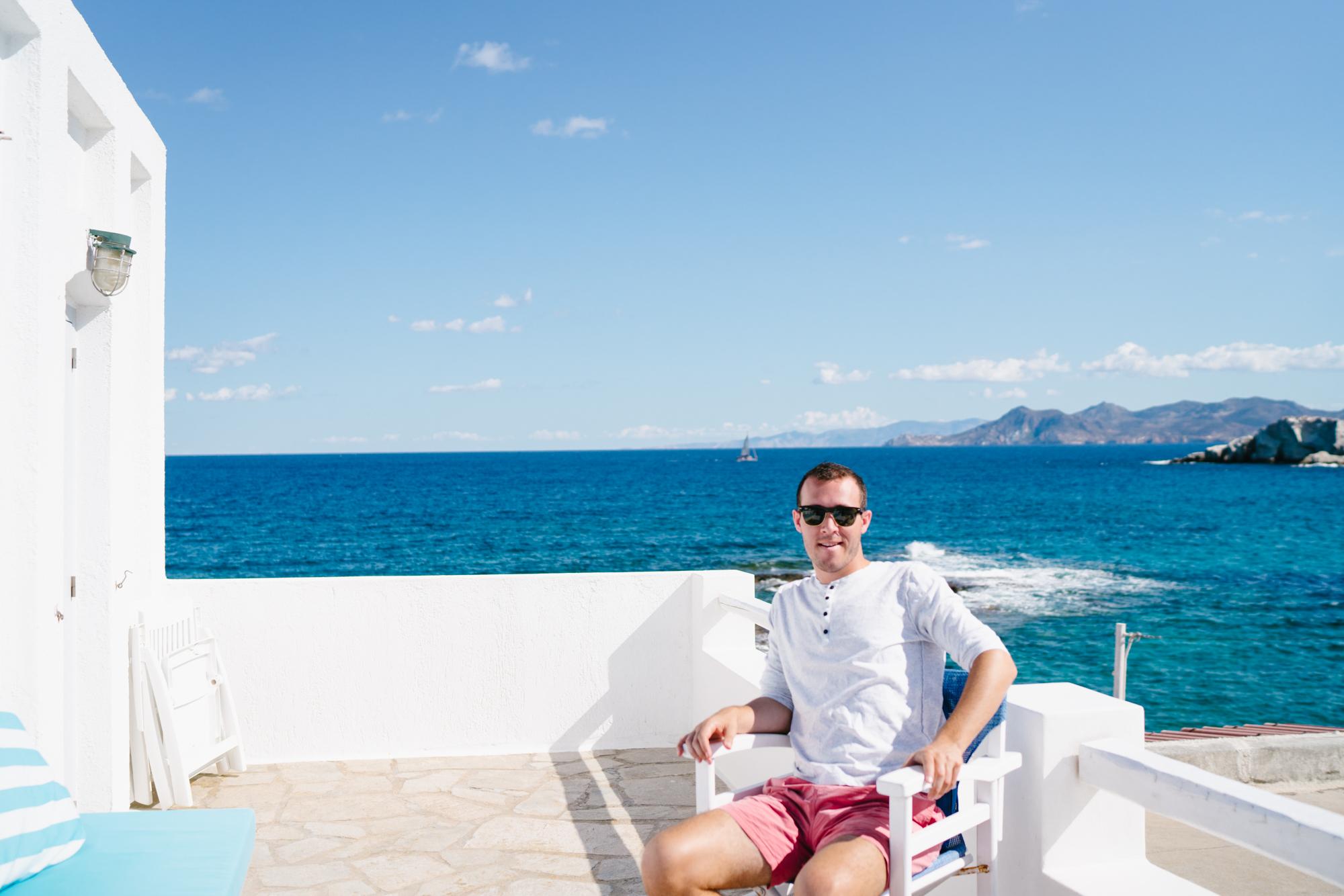 Milos Airbnb view