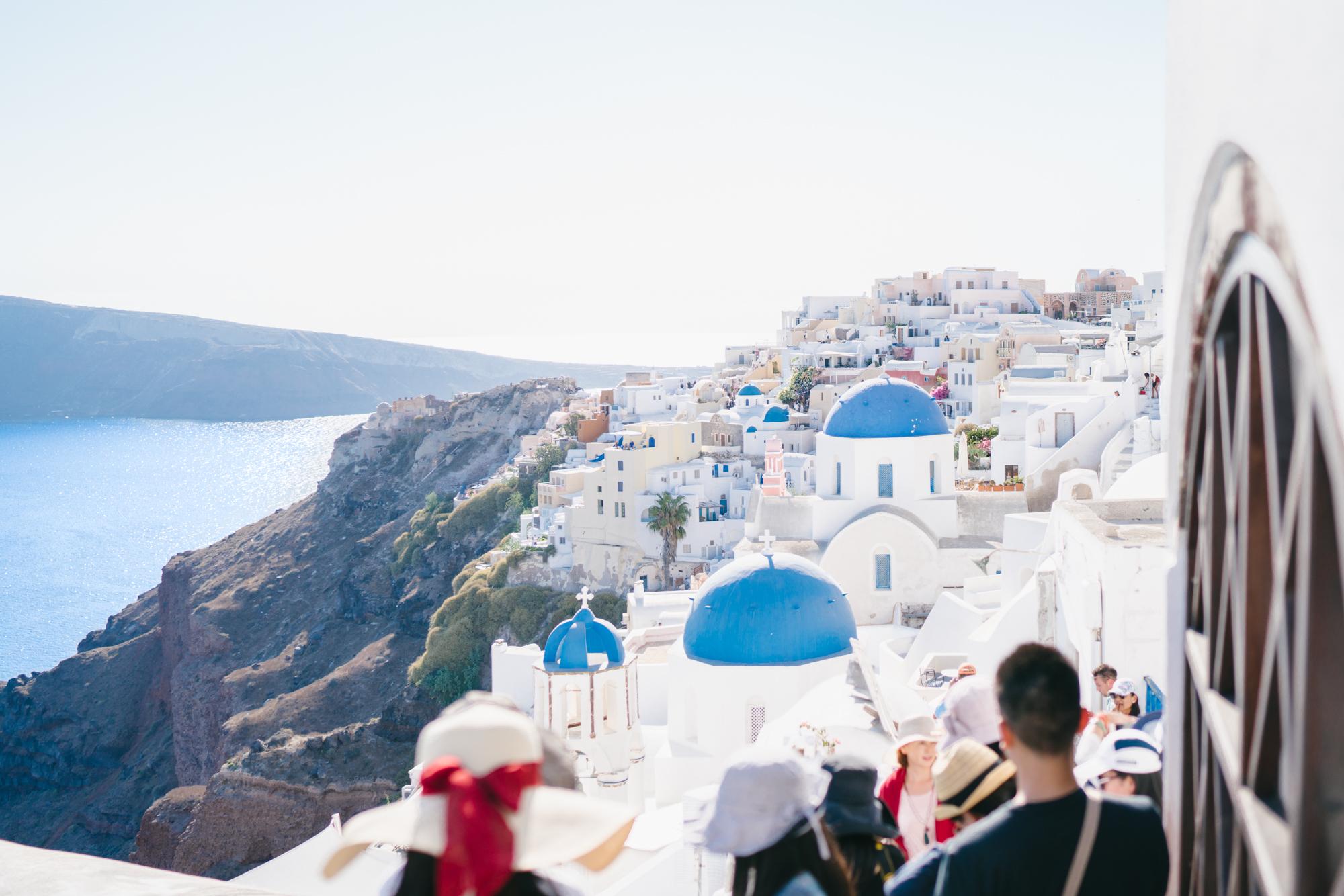 Pretty as a postcard in Oia, Santorini
