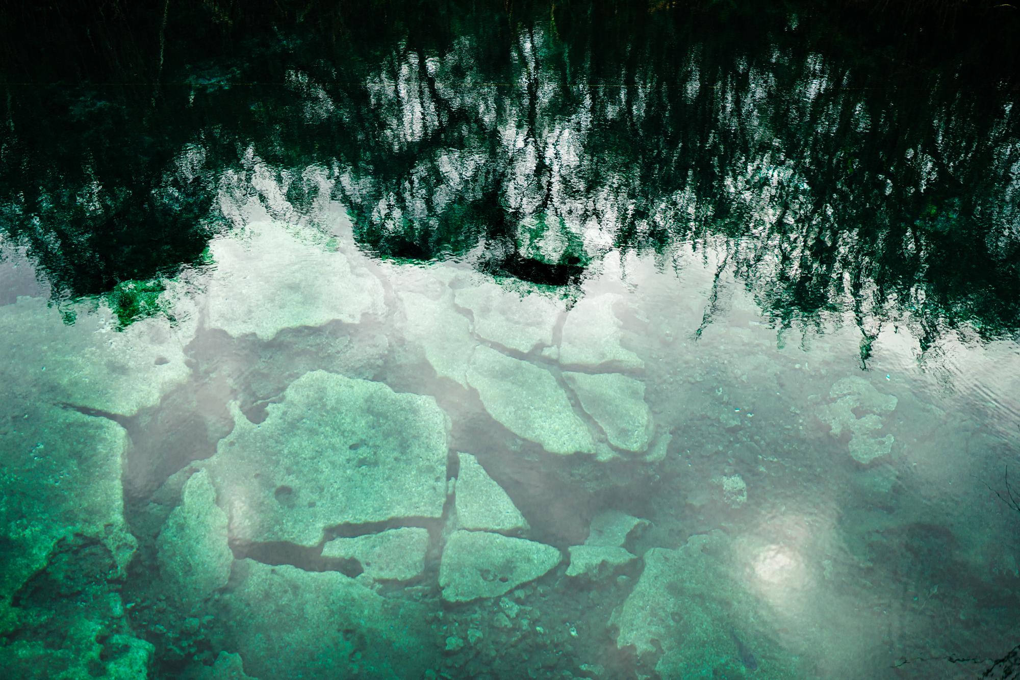 Cenote Escondido Clear Water