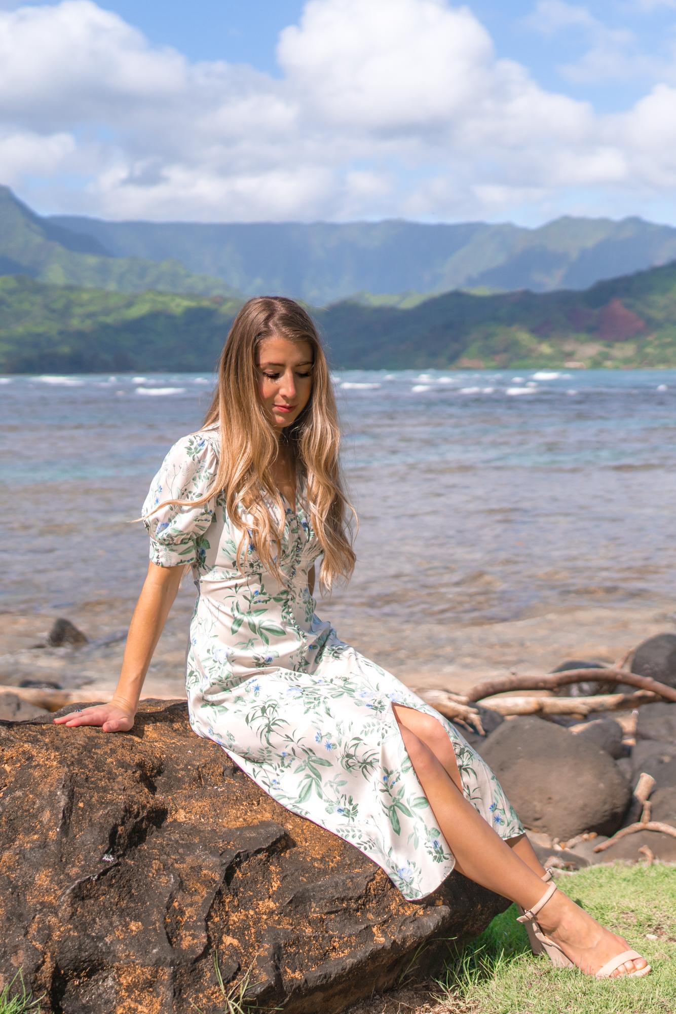 Gal Meets Glam Style, Hanalei Bay Kauai, Hawaii
