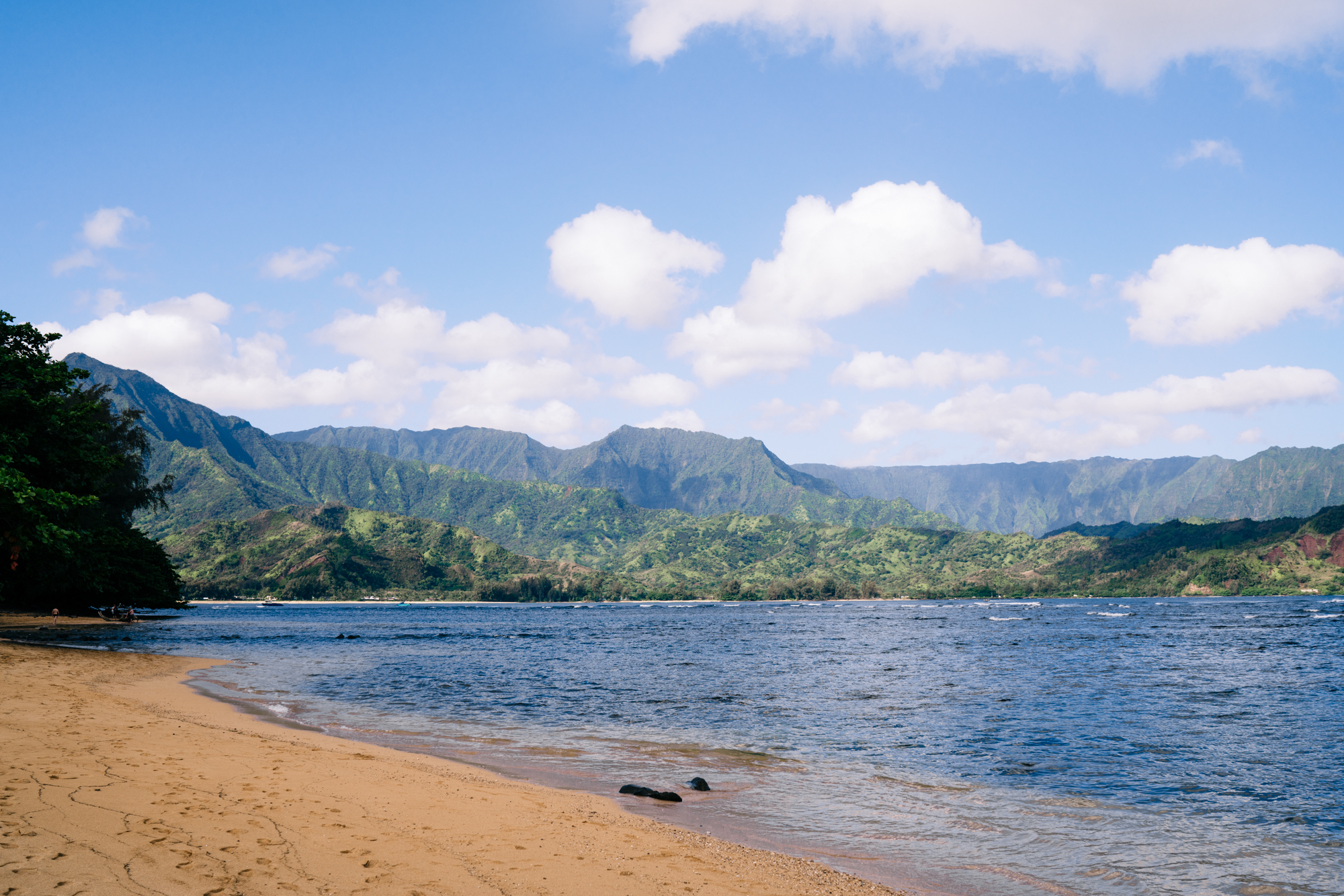 View of Hanalei Bay form St Regis Princeville Kauai