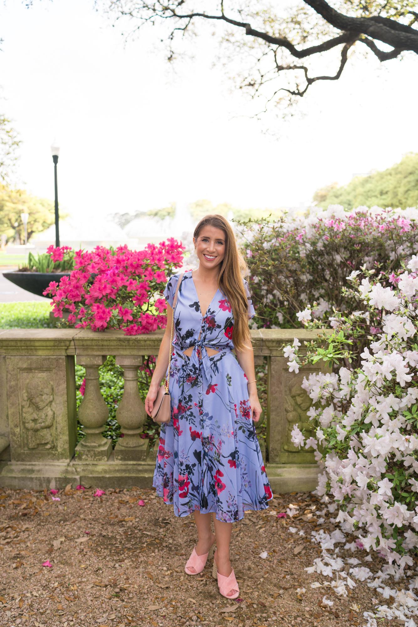 Yumi Kim Violet Floral Dress