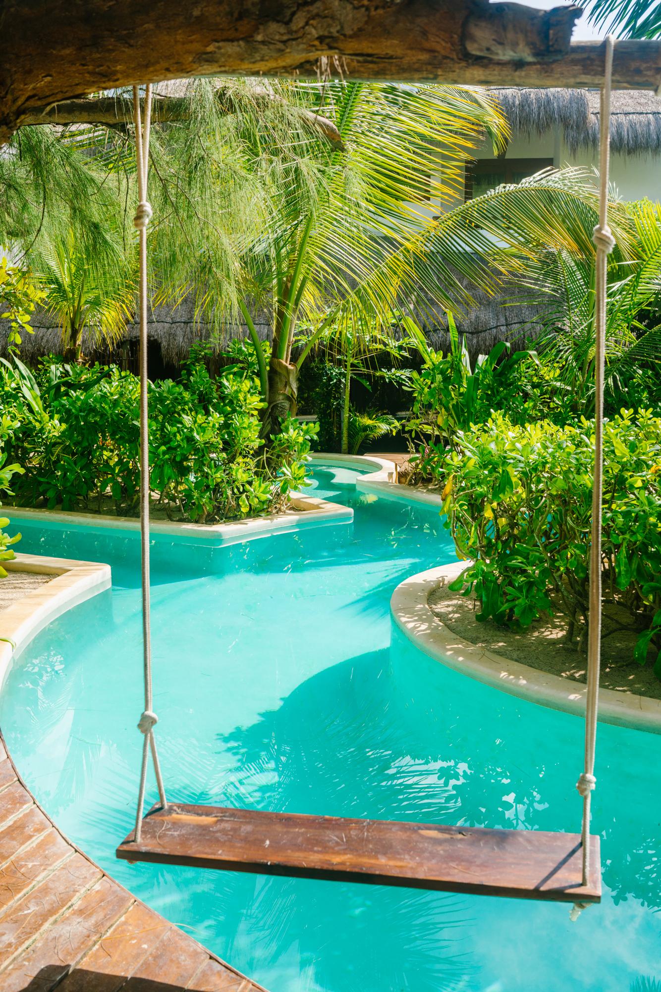 Pool swing at The Beach Tulum