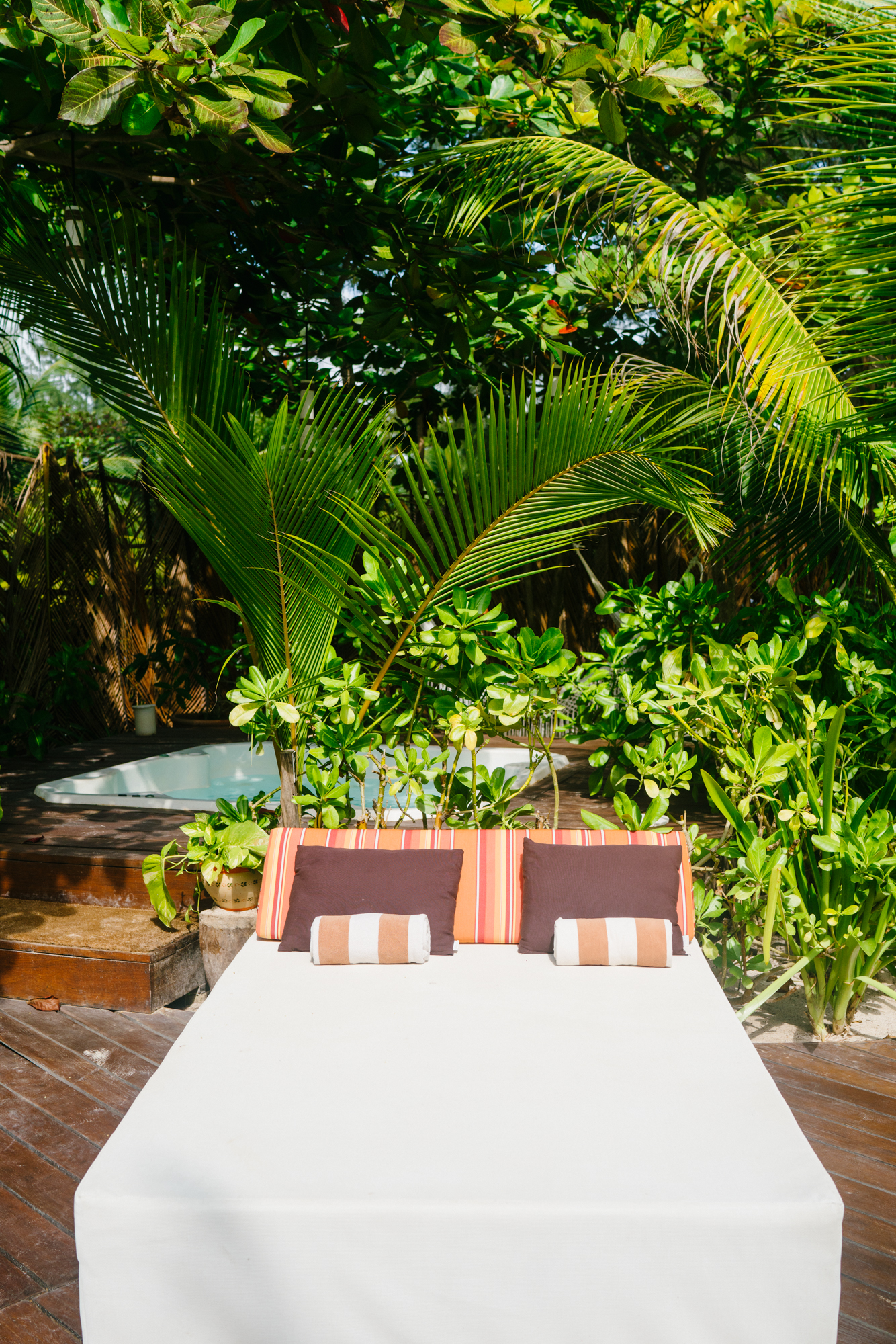 The Beach Tulum hot tub and daybed