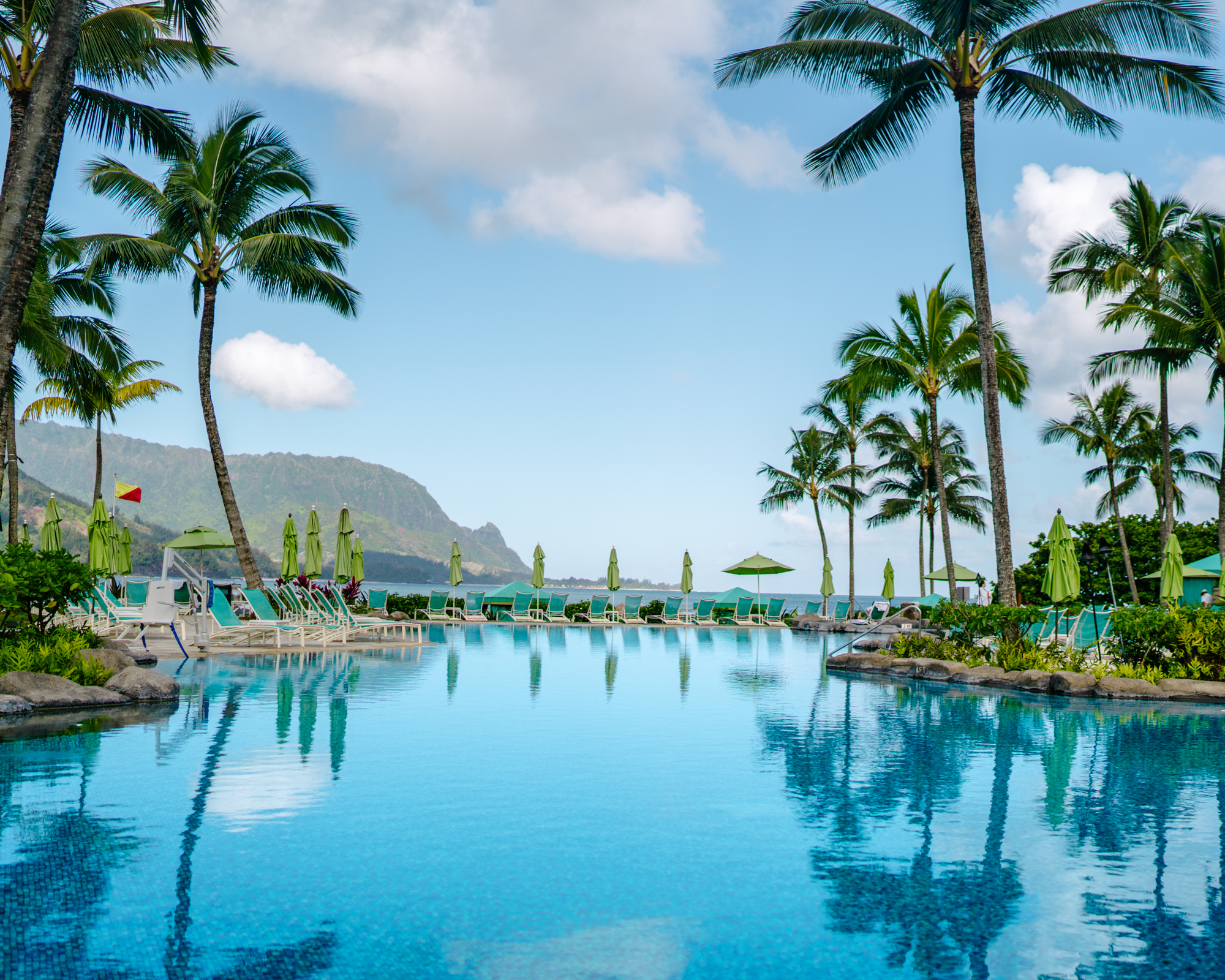 The pool at the St. Regis Princeville in Kauai