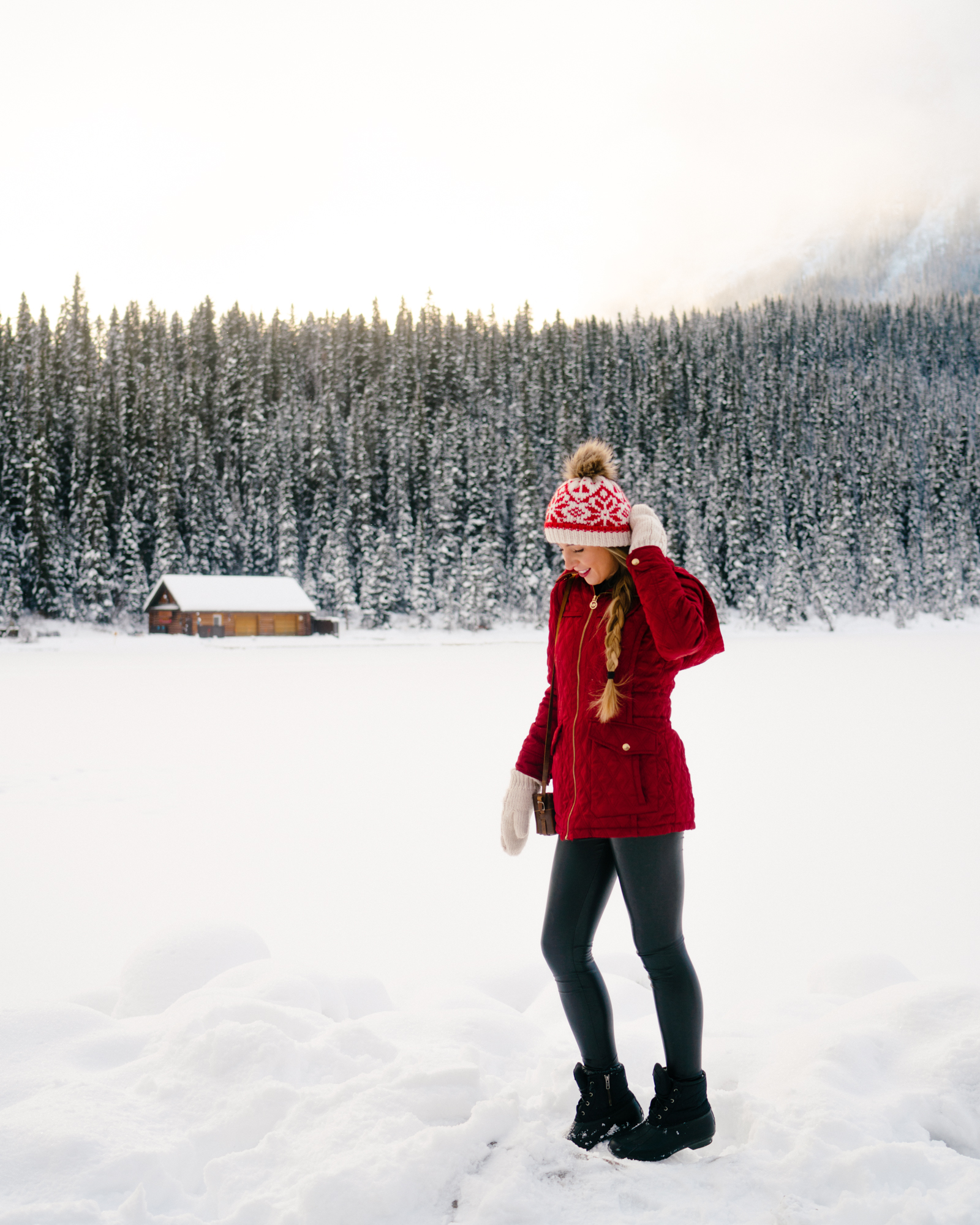 Red winter accessories