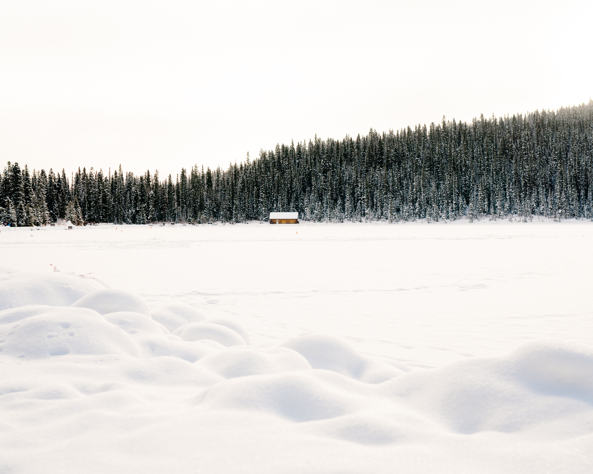 The cabin at Lake Louise