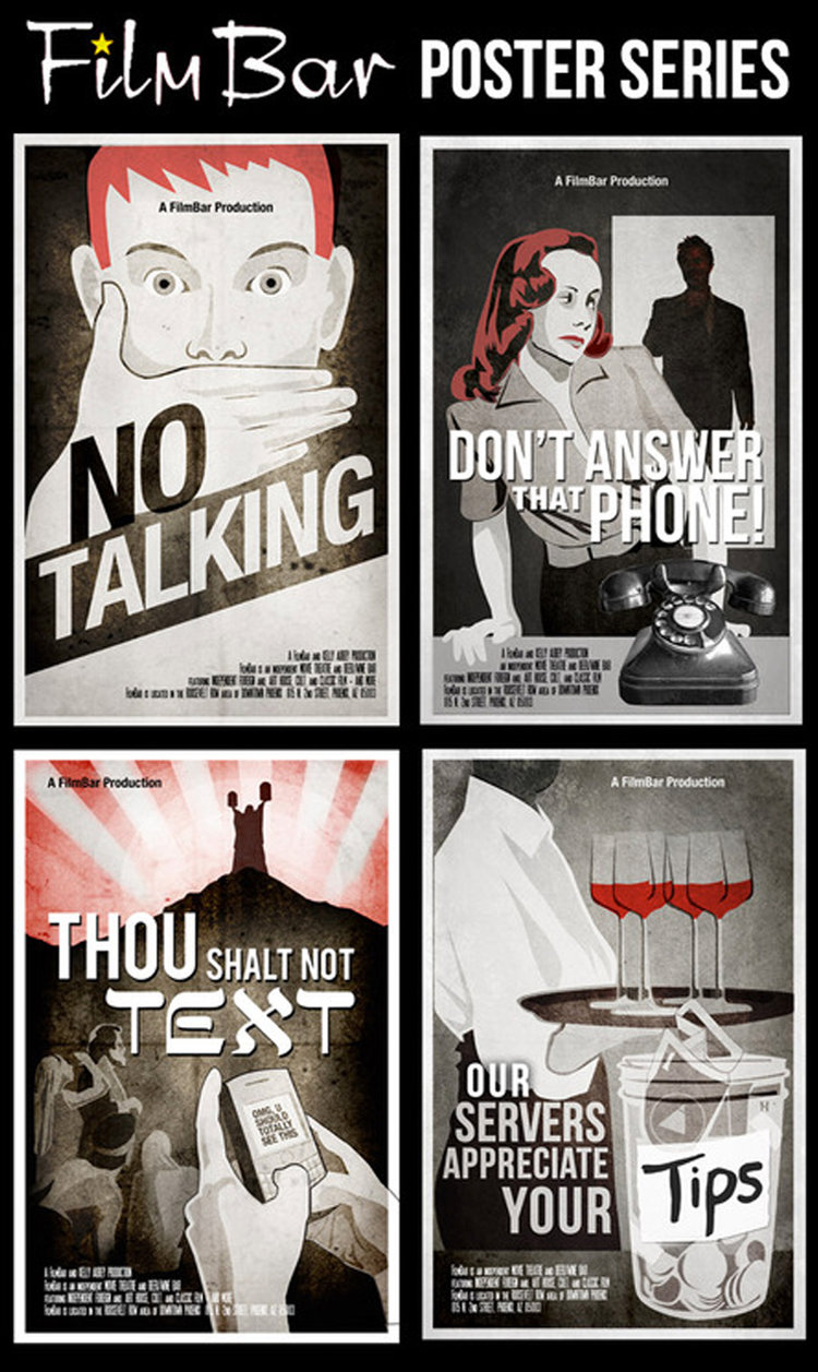 Policy poster series for  Film Bar , Phoenix, AZ.