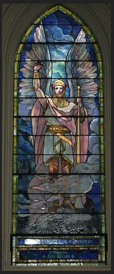 """Saint Gabriel, at Brown Memorial Church Baltimore Maryland  """"By thine own soul's law learn to live. And if men thwart thee, take no heed. And if men hate thee, have no care; Sing thou thy song, and do thy deed, hope thou thy hope, and pray thy prayer.""""   """"... Keep thou thy soul-worn steadfast oath,  And to thy heart be true thy heart; What thy soul teaches learn to know,  And play out thine appointed part, And thou shalt reap as thou shalt sow,  Nor helped nor hindered in thy growth, To thy full stature thou shalt grow.  Fix on the future's goal thy face,  And let thy feet be lured to stray Nowhither, but be swift to run,  And nowhere tarry by the way, Until at last the end is won  And thou mayst look back from thy place And see thy long day's journey done.- Pakenham Beatty  """"The realization was that the self is the goal of individuation and that the process of individuation was not linear, but consisted of a circumambulation of the self.""""  """"... he highlighted the significance of the midlife transition. He argued that the first half of life could be characterized as the natural phase, in which the prime aim was establishing oneself in the world, gaining an income, and raising a family. The second half of life could be characterized as the cultural phase, which involved a revaluation of earlier values. The goal in this period was one of conserving previous values together with the recognition of their opposites."""" This meant that individuals had to develop the undeveloped and neglected aspects of their personality. The individuation process was now conceived as the general pattern of human development. He argued that there was a lack of guidance for this transition in contemporary society. """"  excerpt from The Red Book , Jung"""