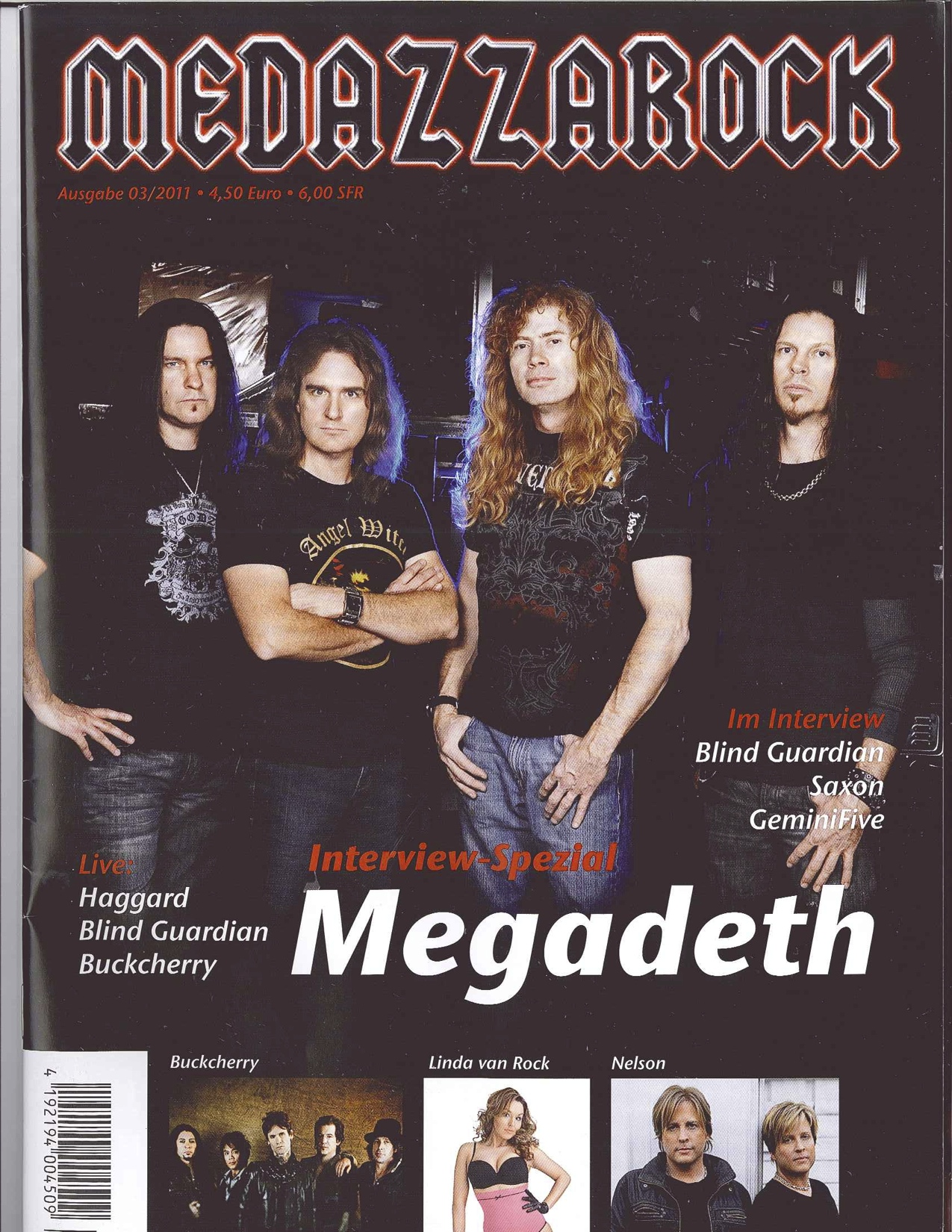Nelson - cover of MEDAZZAROCK (German-Switzerland)