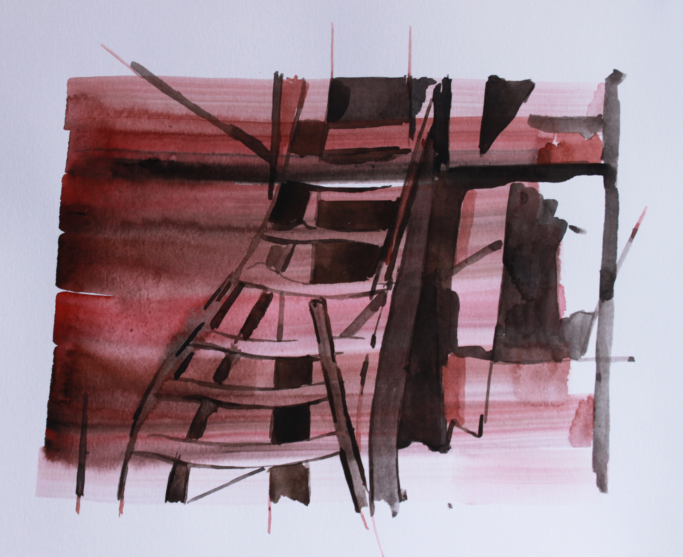 WHITE PHOSPHORUS, Watercolour on paper, 30.5 x 40.5cm, 2014