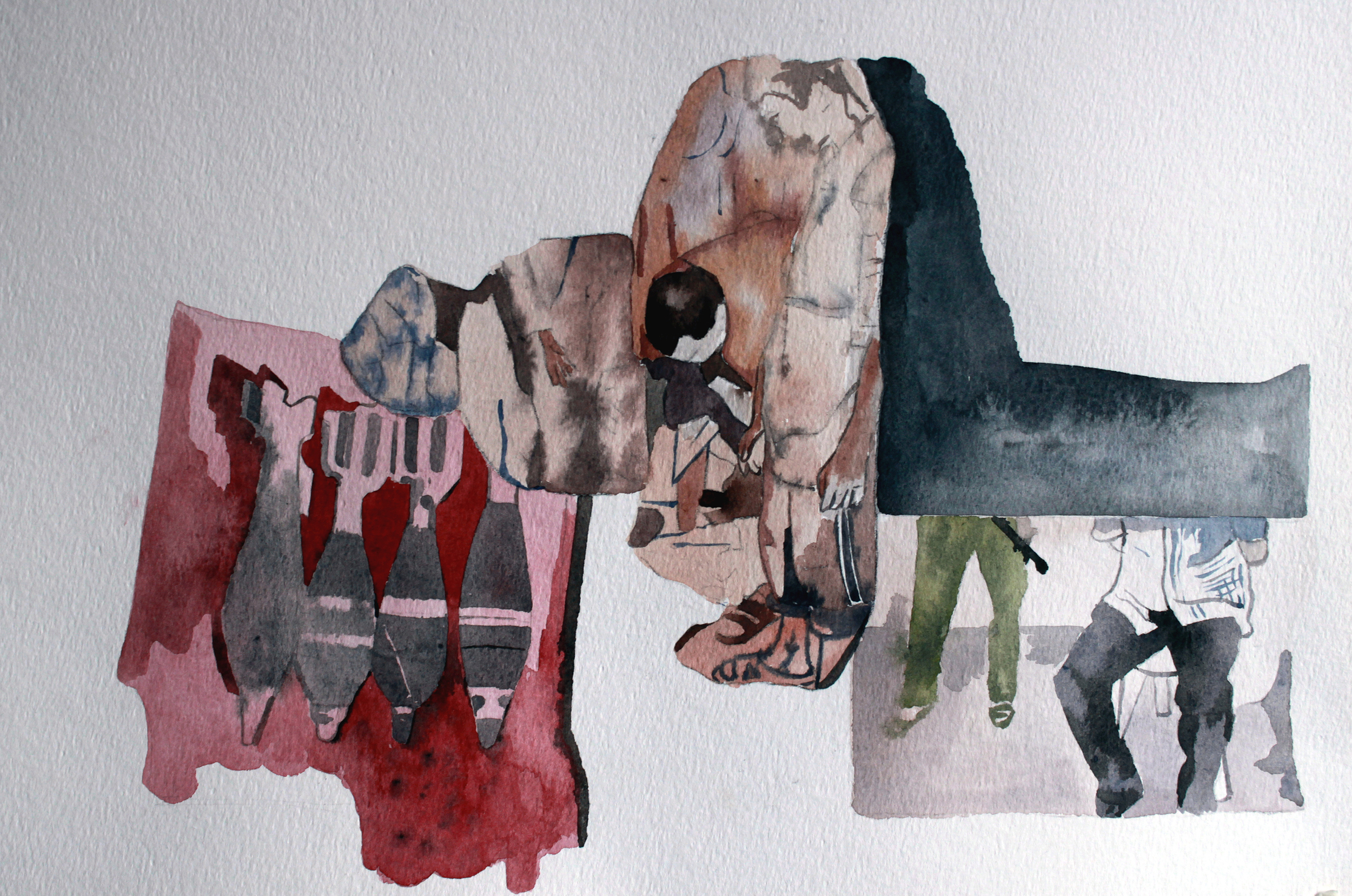 UNTITLED, Watercolour on paper, 30.5 x 40.5cm, 2014