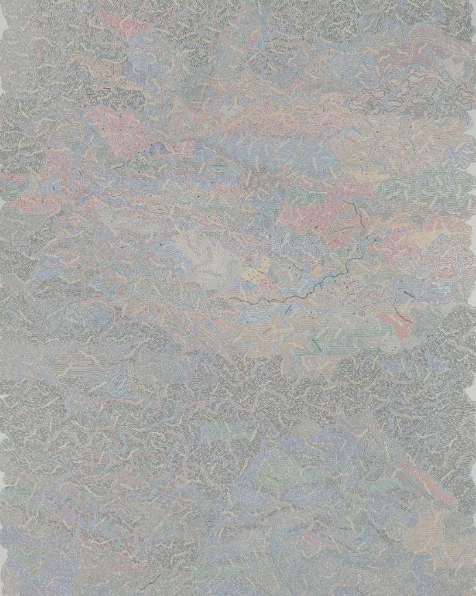 Adam Palmer - Small Town Boy - Marker on Paper - 30 x 22 -- BEST OF SHOW