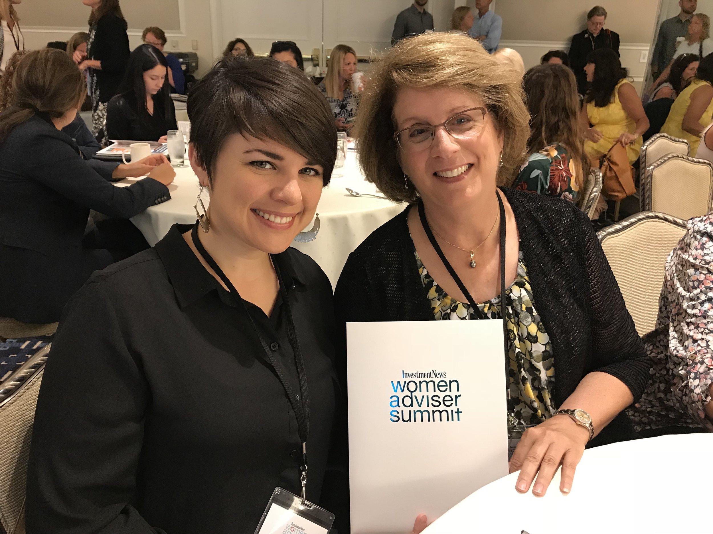 Hannah and Kathleen at Womens Adviser Day Summit