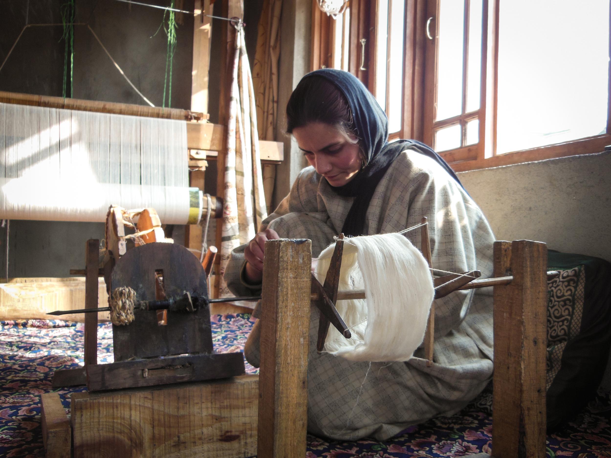 Hand-spun Pashmina Cashmere yarn