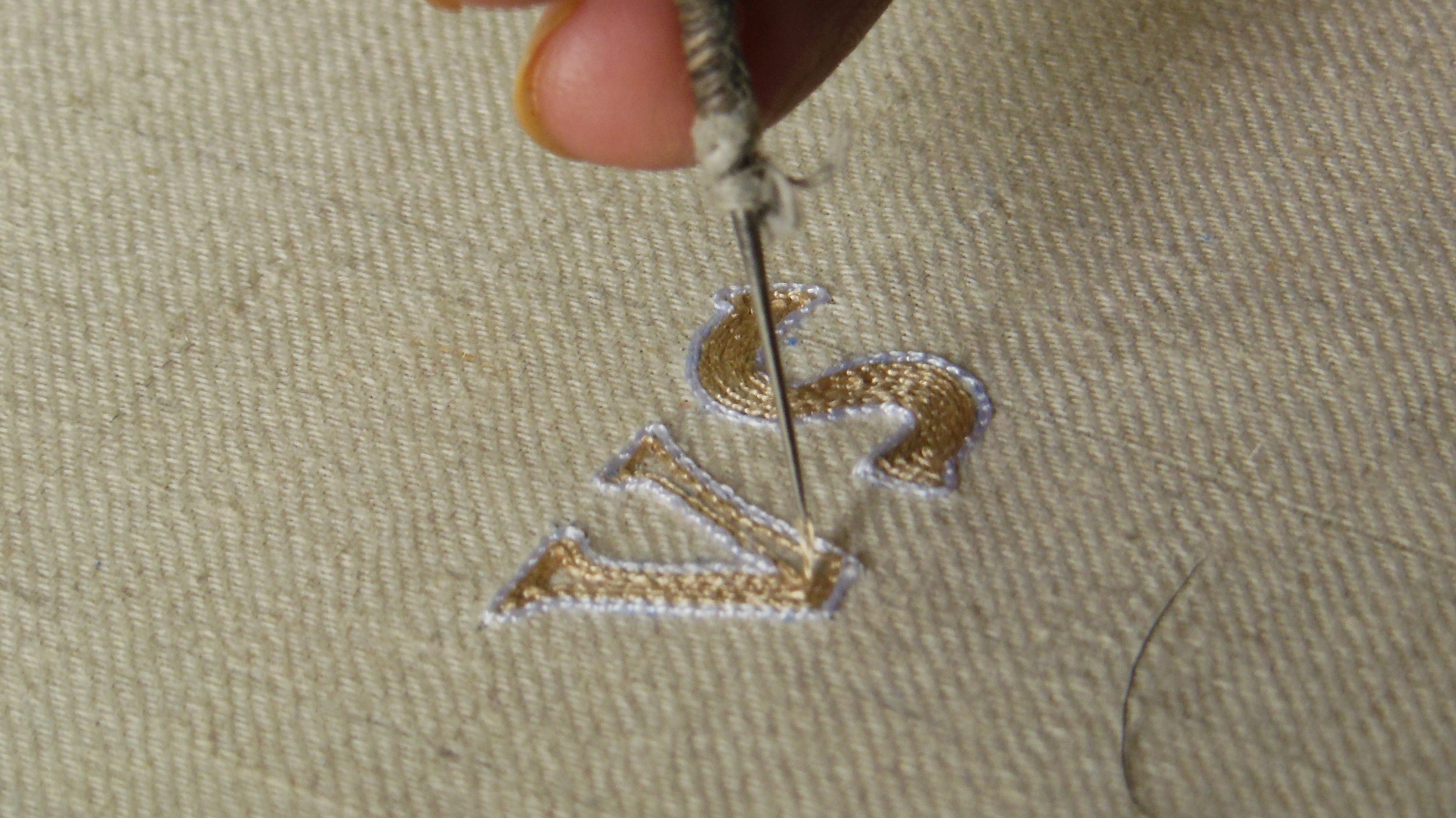 Monogram Embroidery Silk on Pashmina Cashmere